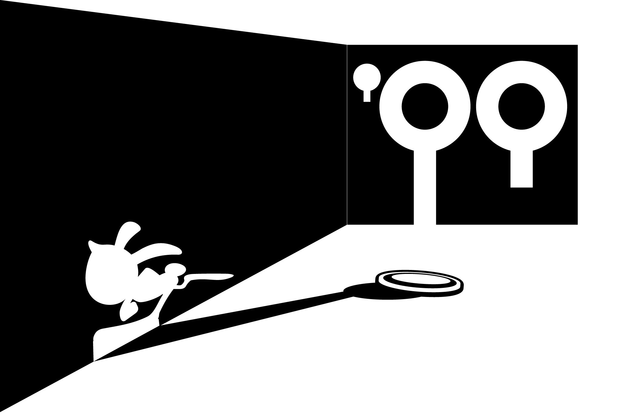1999年賀状09:うさぎの影のダウンロード画像