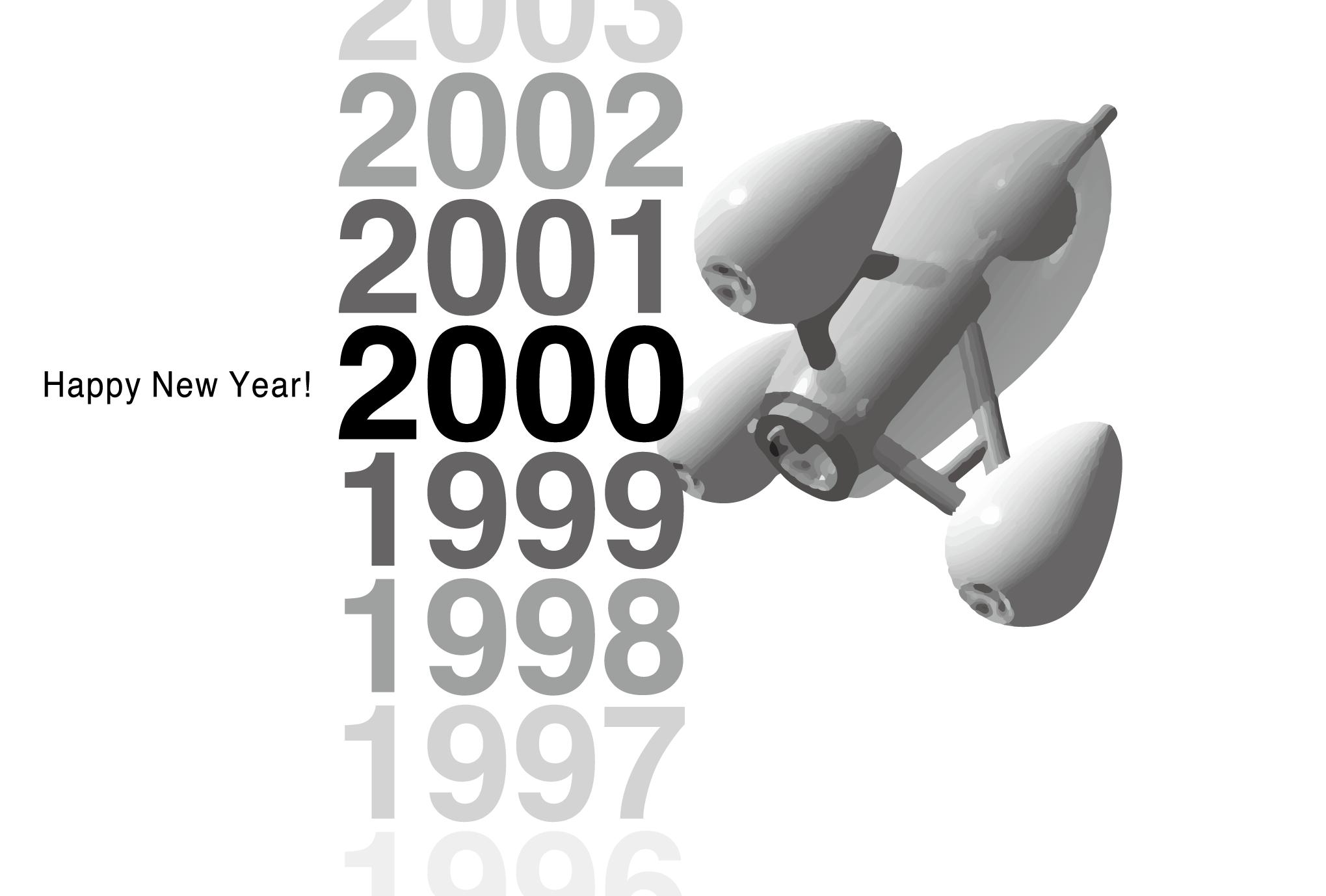 2000年賀状10:Gradation 2000のダウンロード画像