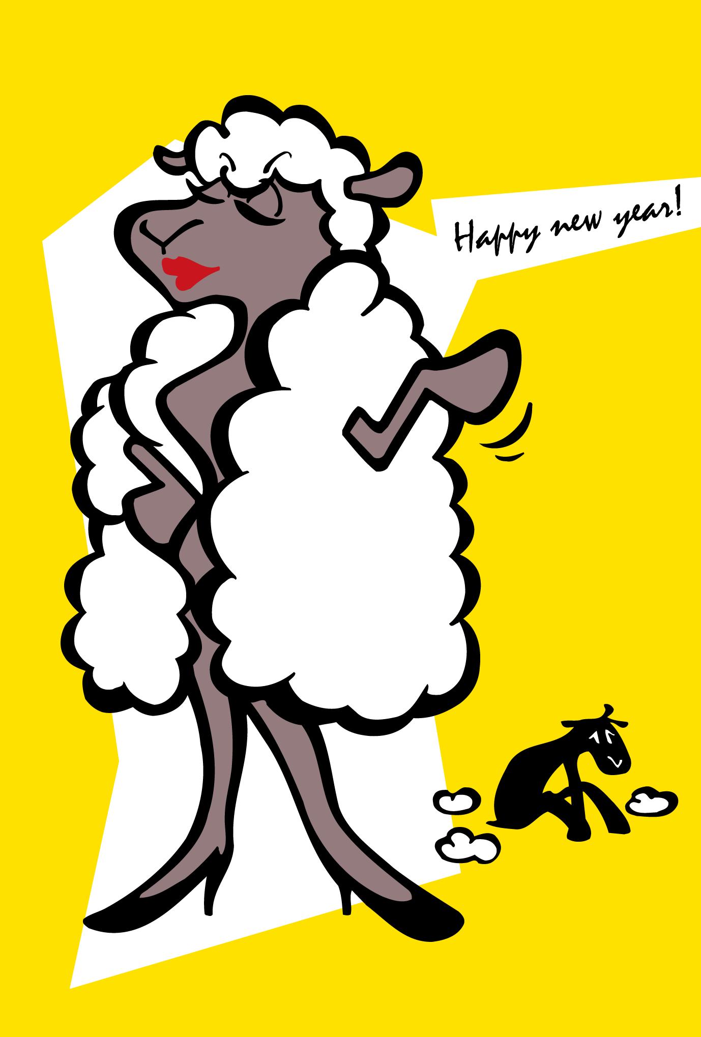 2003年賀状09:Wool coatのダウンロード画像