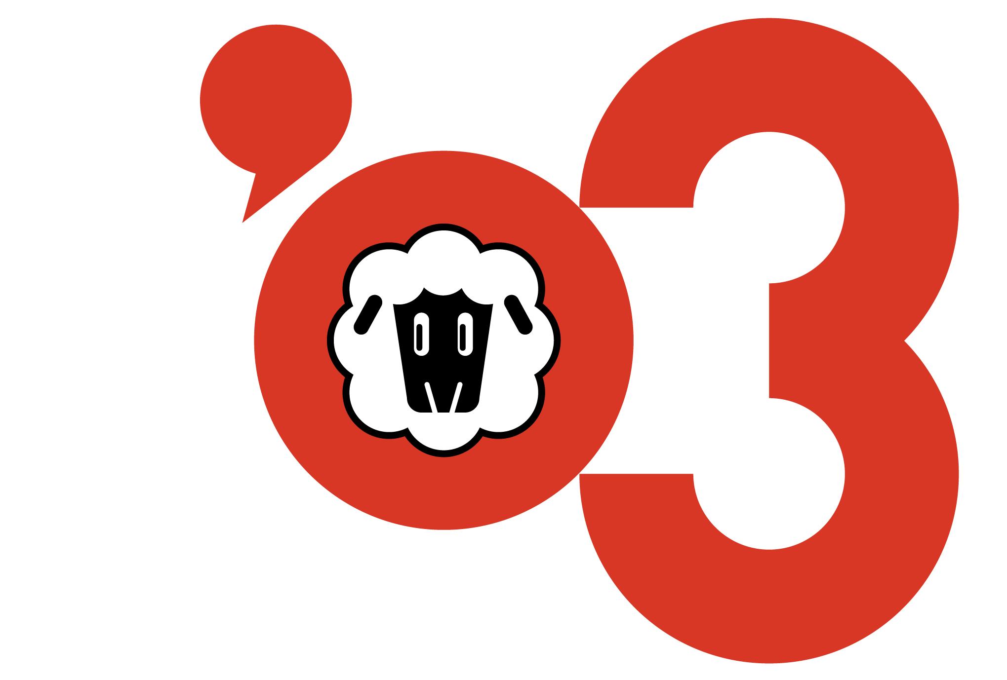 2003年賀状12:Sheep '03のダウンロード画像