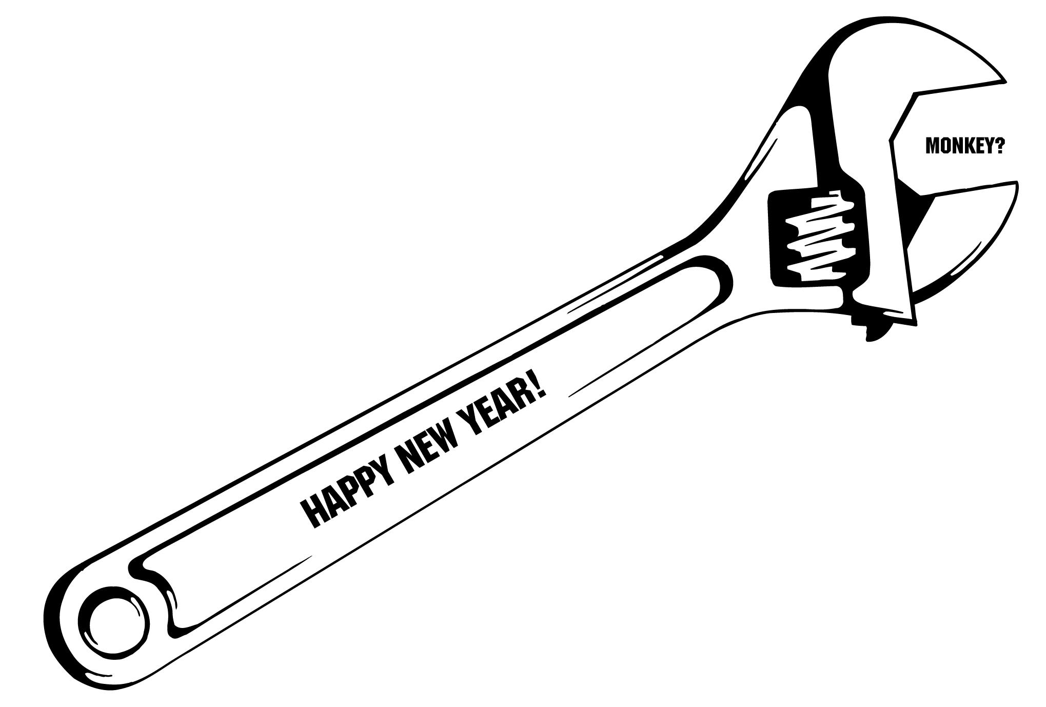 2004年賀状14:Monkey wrenchのダウンロード画像