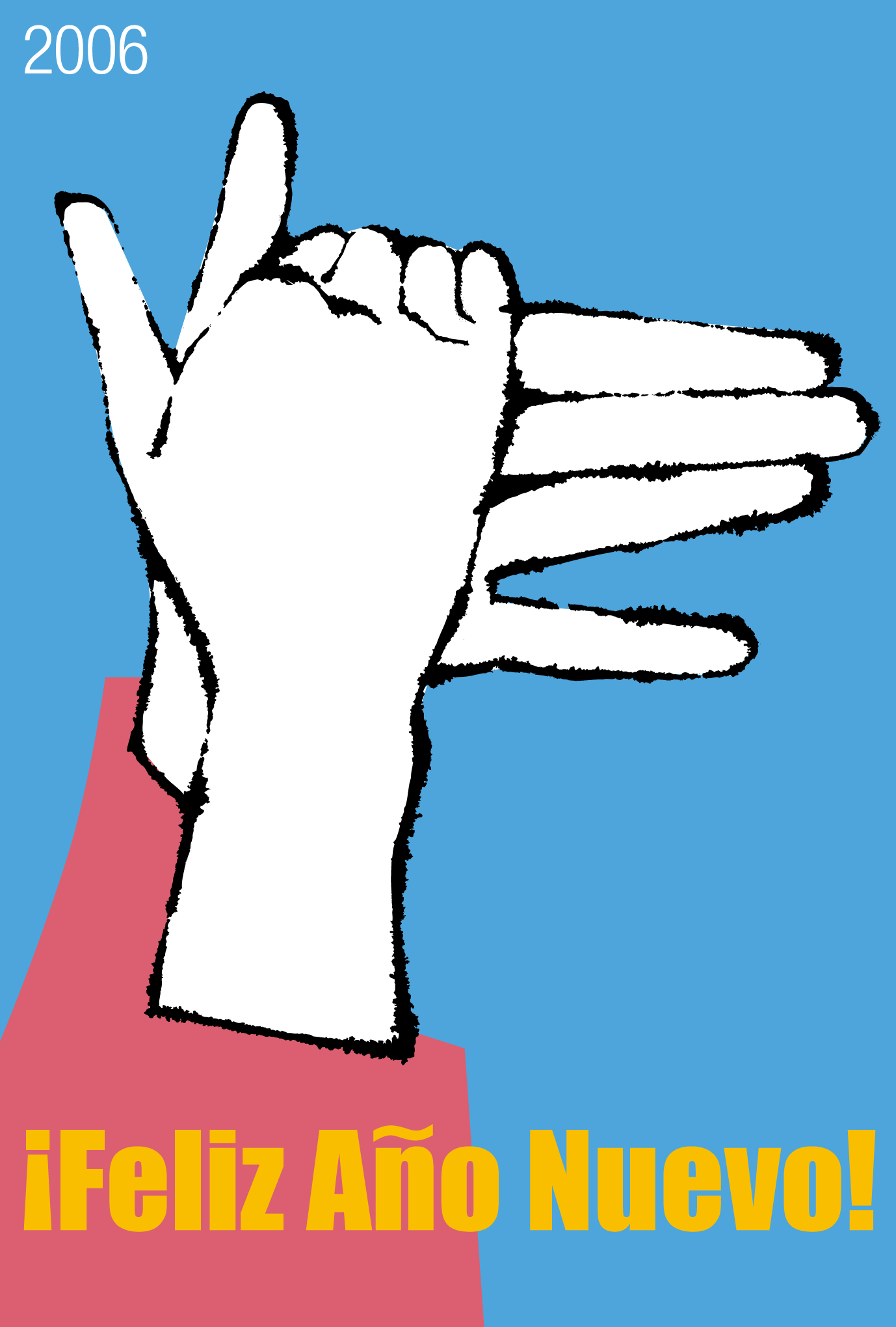 2006年賀状27:Hand made dog / Spanishのダウンロード画像