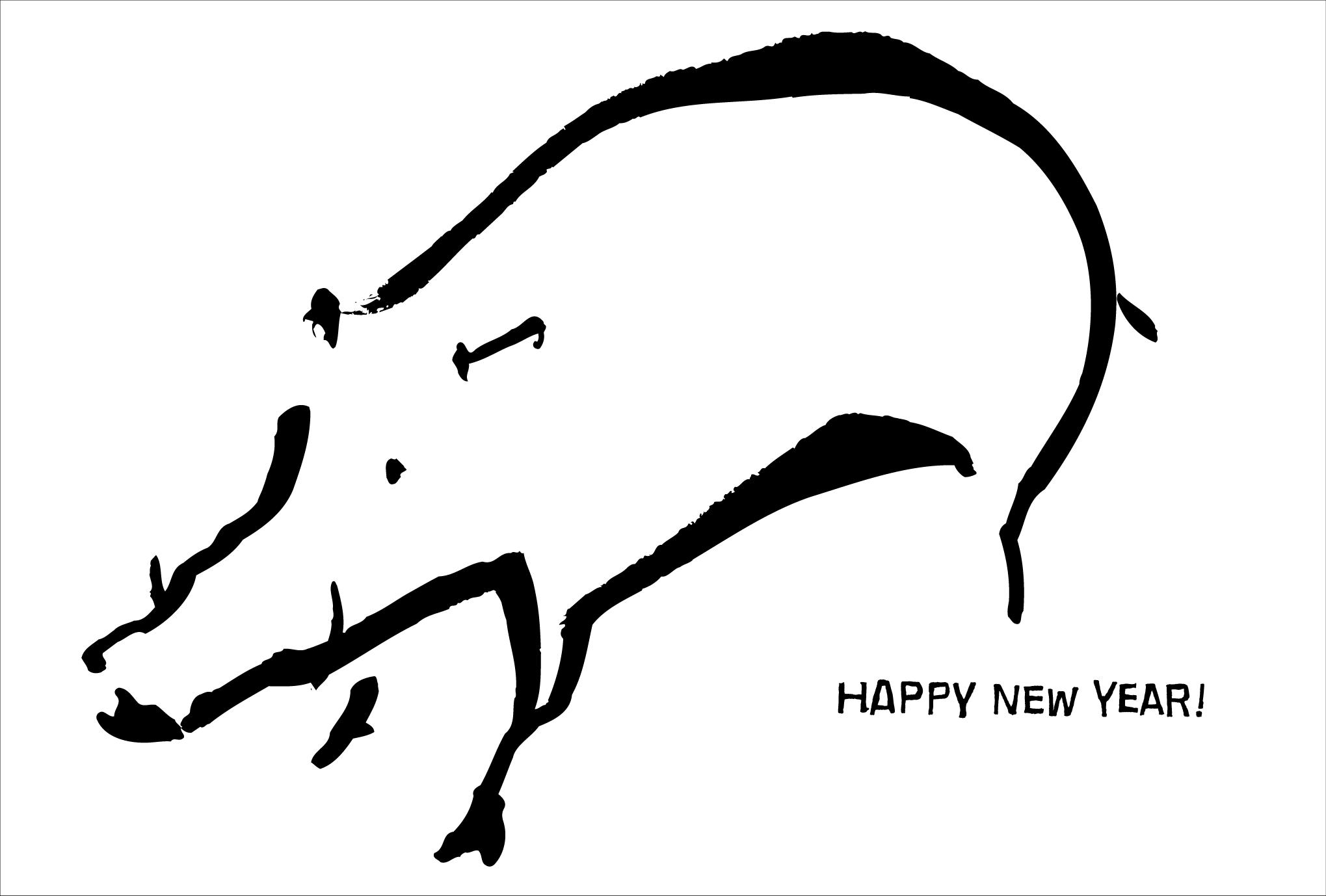 2007年賀状09:Wild boar / 1のダウンロード画像