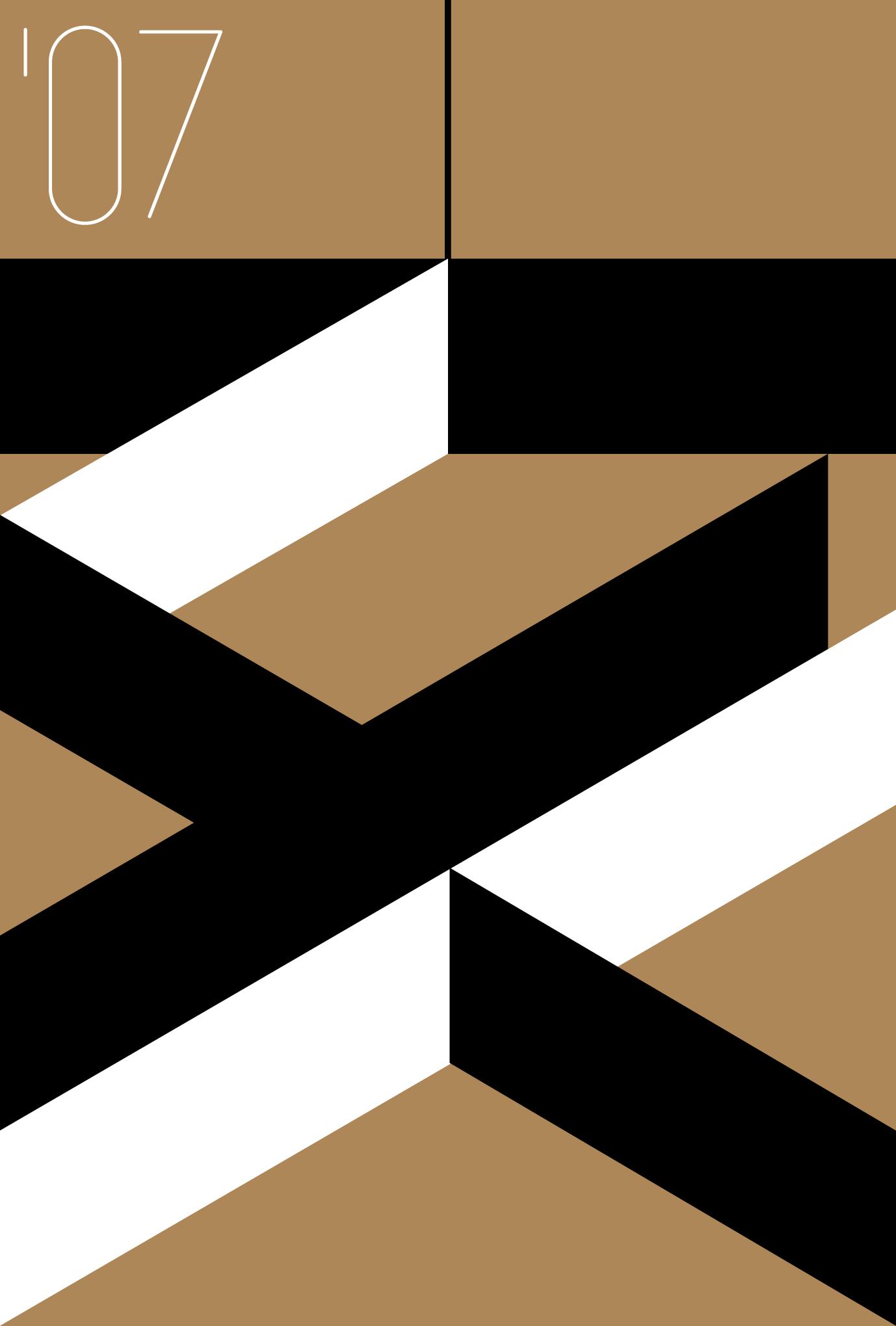 2007年賀状16:亥の図案 2007 / 茶のダウンロード画像