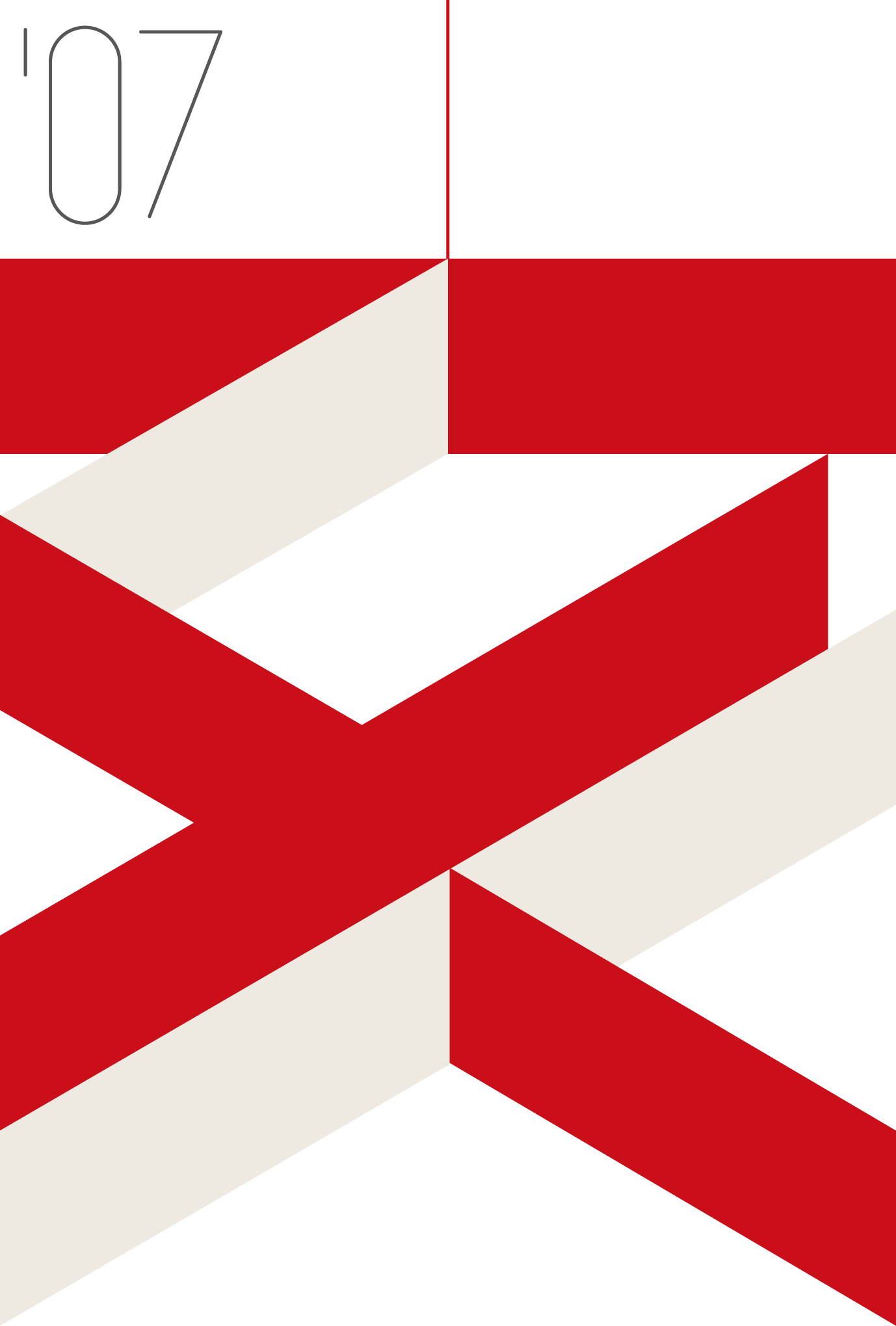 2007年賀状17:亥の図案 / 赤のダウンロード画像