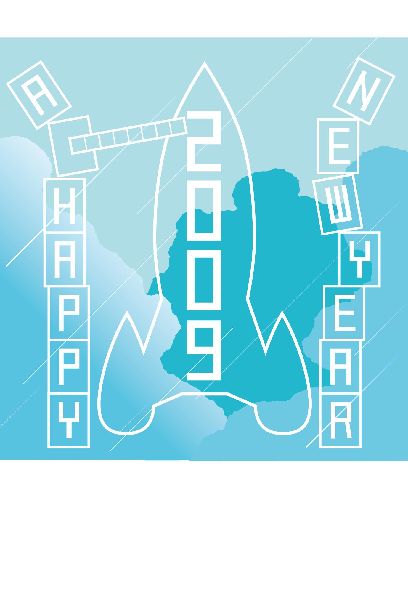 2009年賀状02:New year rocket / 2のダウンロード画像