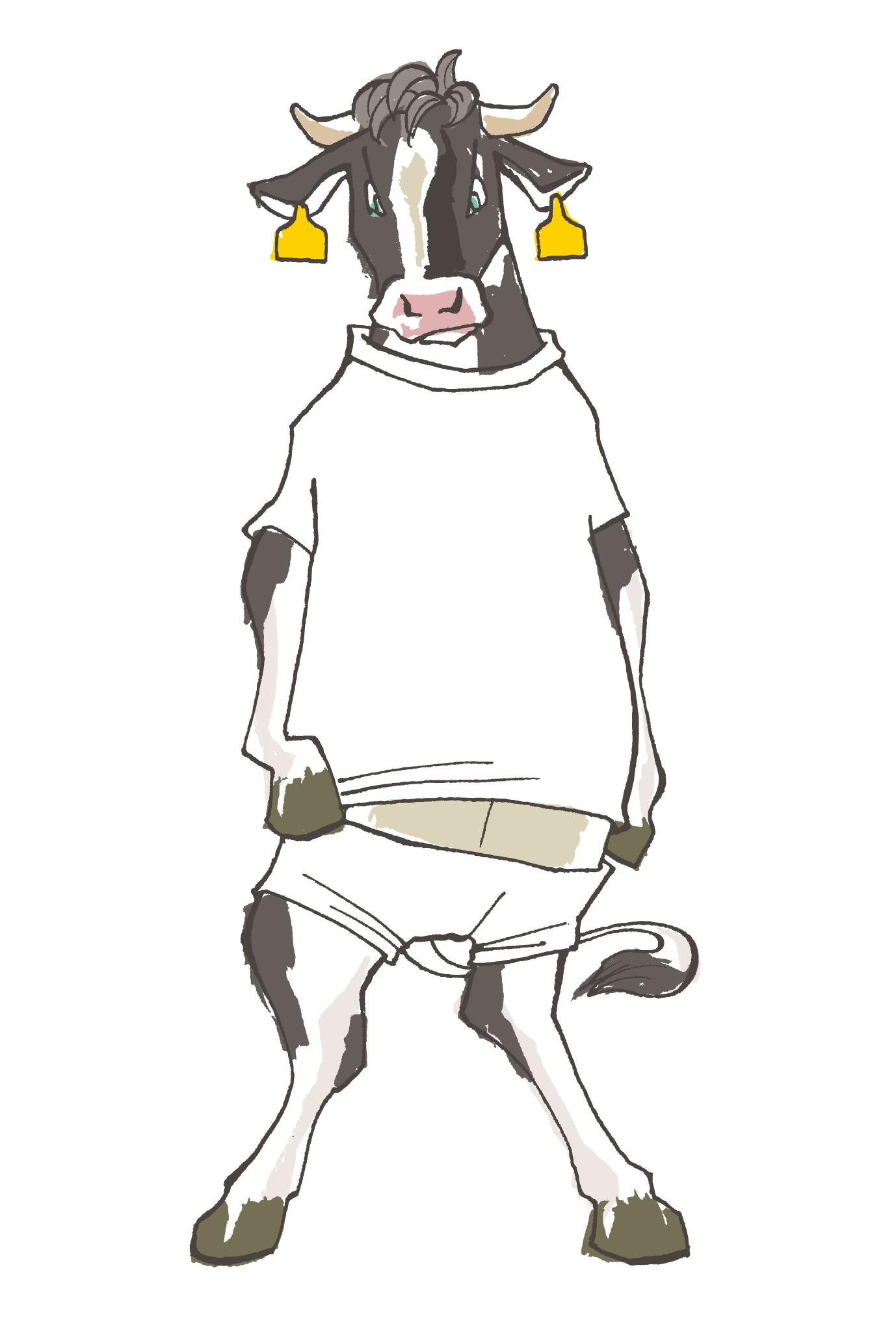 2009年賀状07:Milk the bull / 1のダウンロード画像