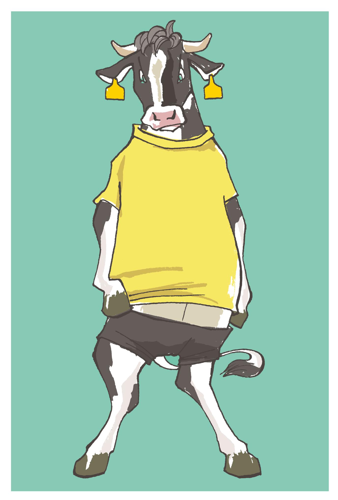 2009年賀状08:Milk the bull / 2のダウンロード画像