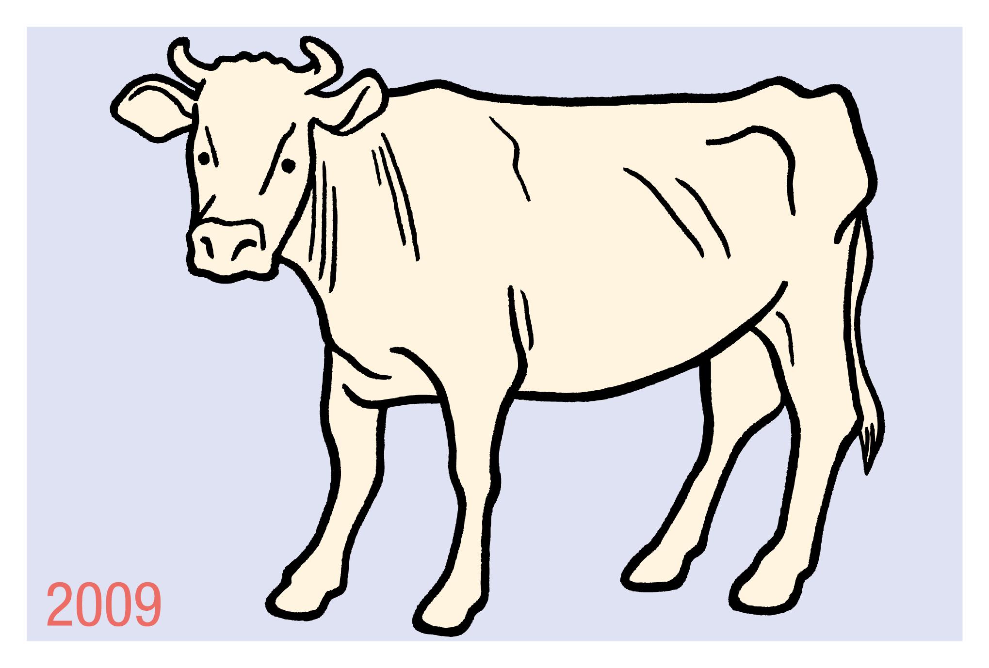2009年賀状09:Charolaisのダウンロード画像