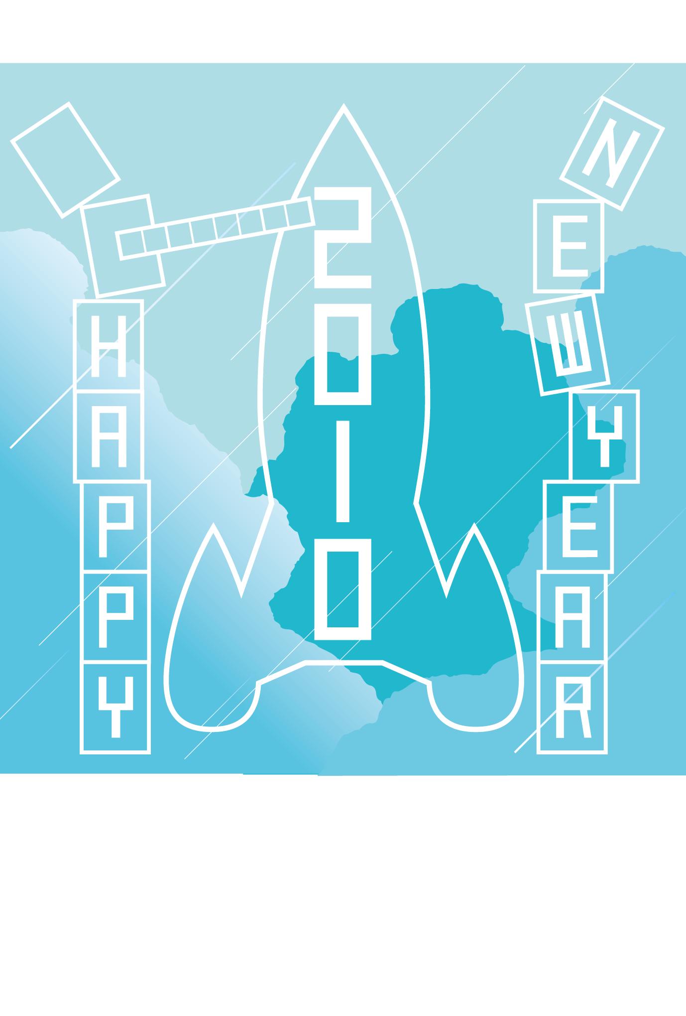 2010年賀状02:New year rocket / 2のダウンロード画像