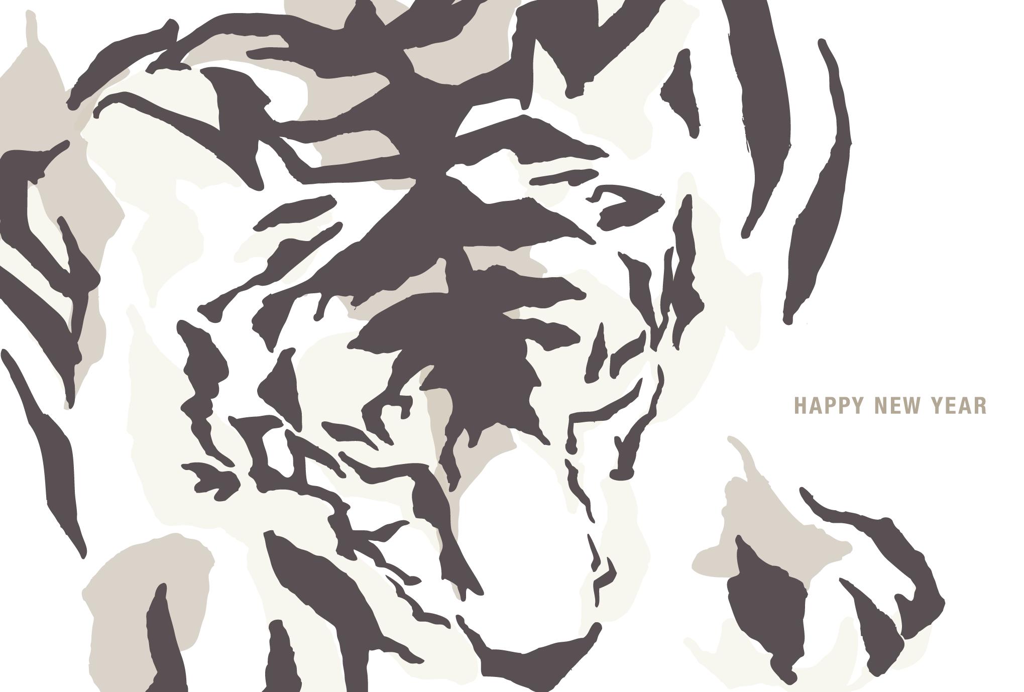 2010年賀状08:White Tigerのダウンロード画像