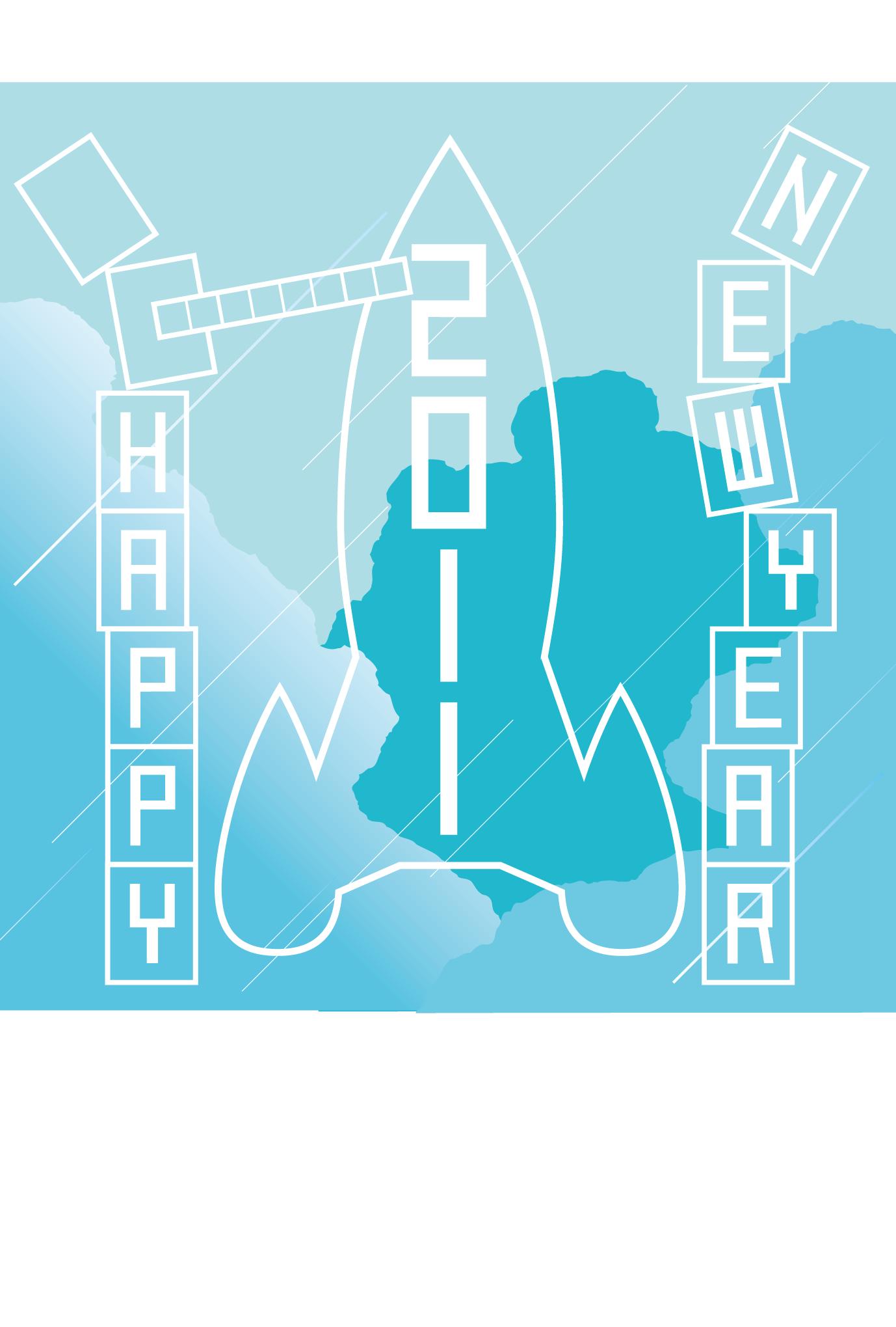 2011年賀状01:New year rocketのダウンロード画像