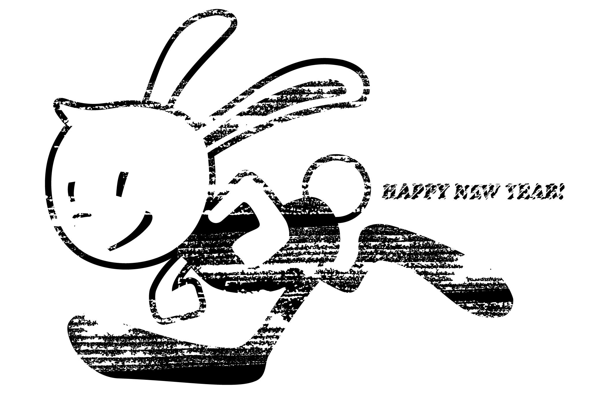 2011年賀状09:Running Bunny / modify 1のダウンロード画像