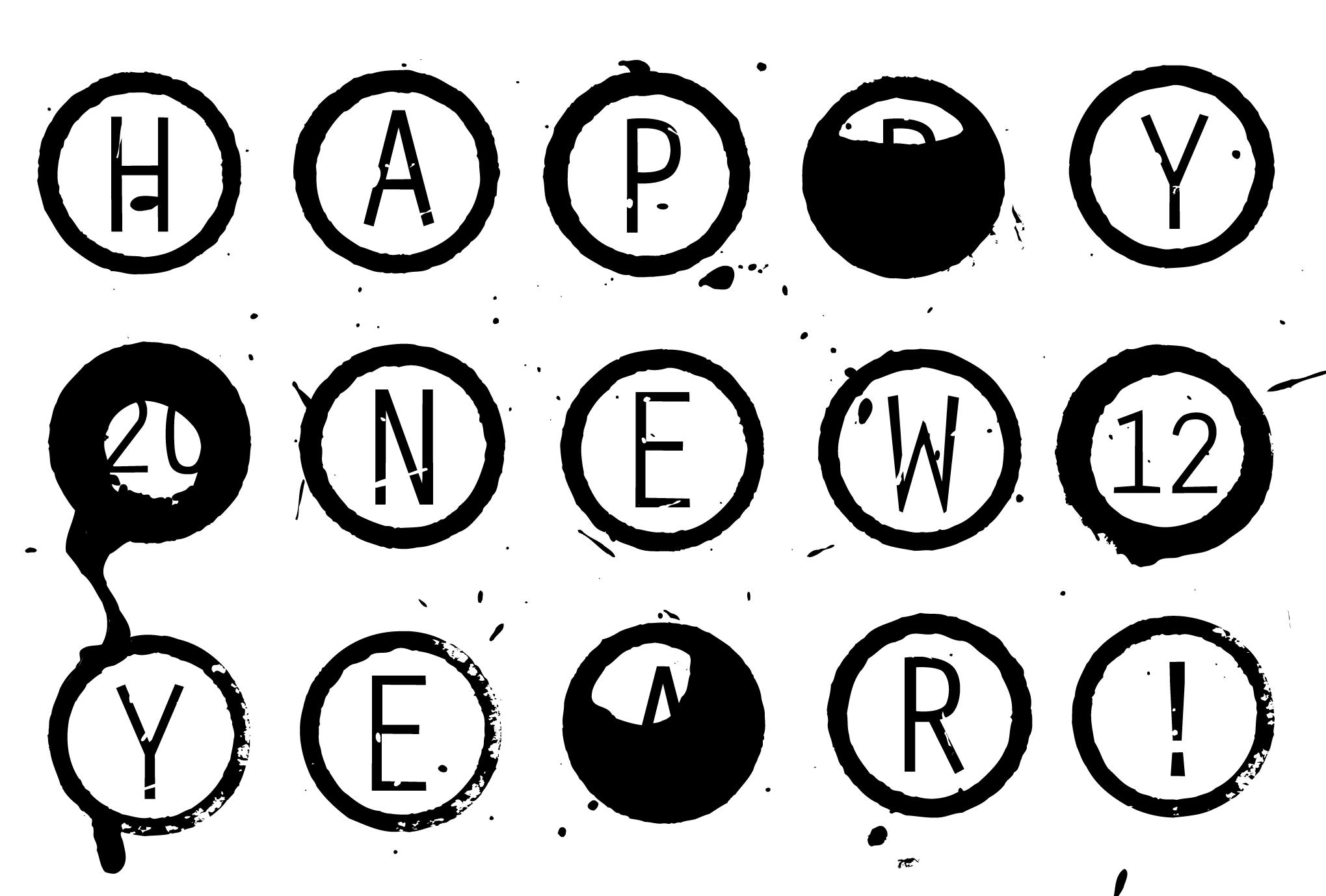 2012年賀状03:Circle 2012のダウンロード画像
