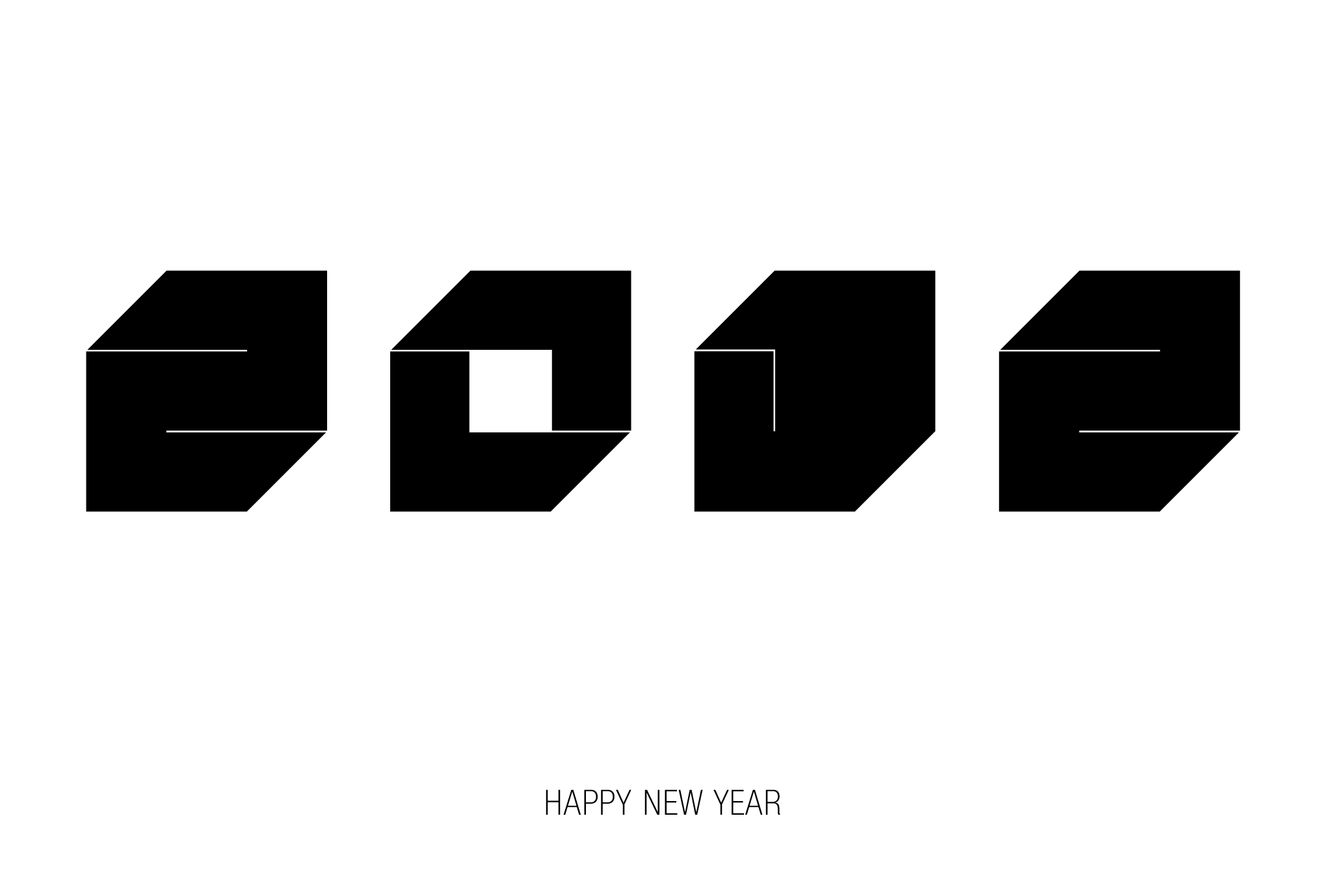 2012年賀状08:Square 2012 / 2のダウンロード画像