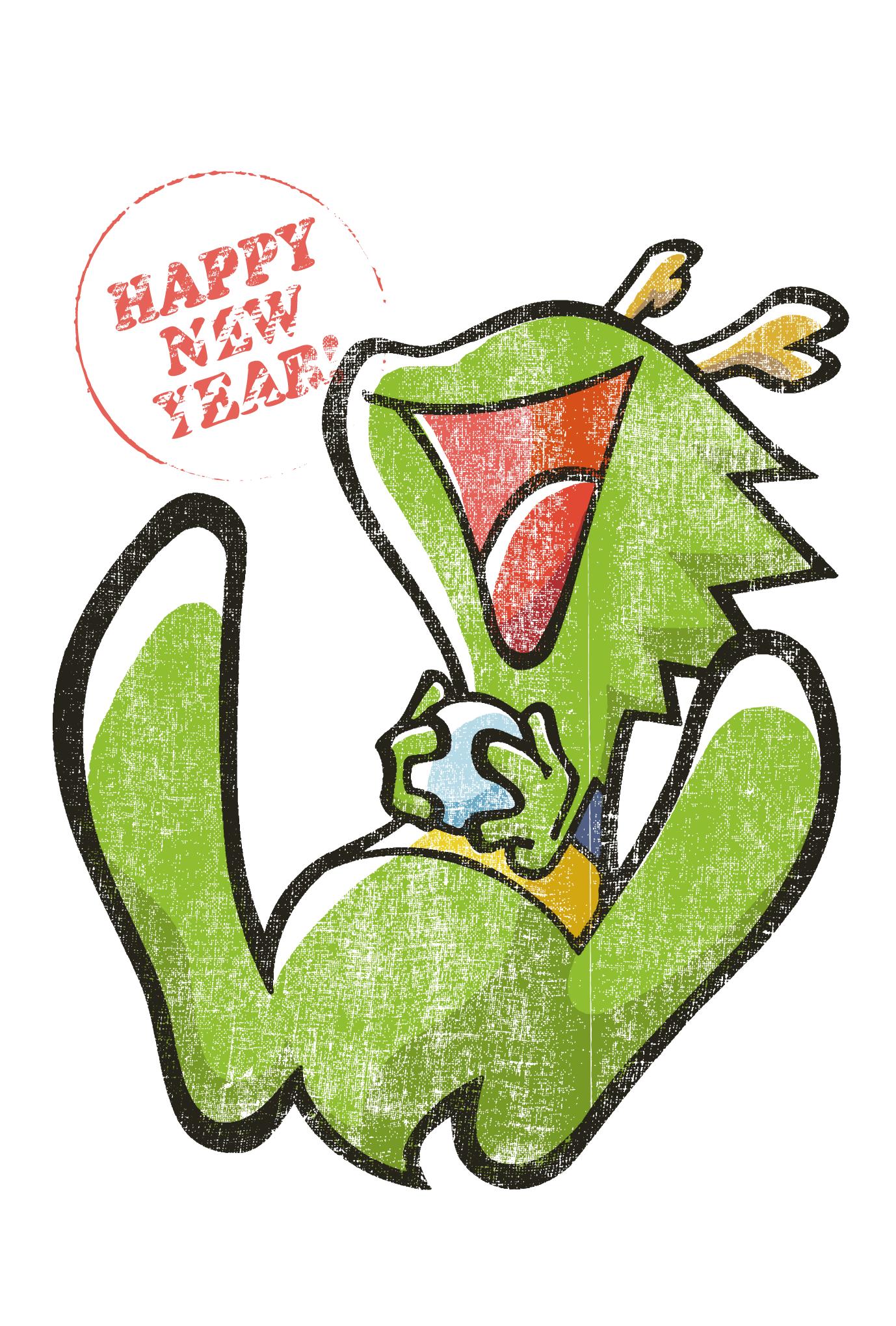 2012年賀状17:Laughing dragon / modifyのダウンロード画像