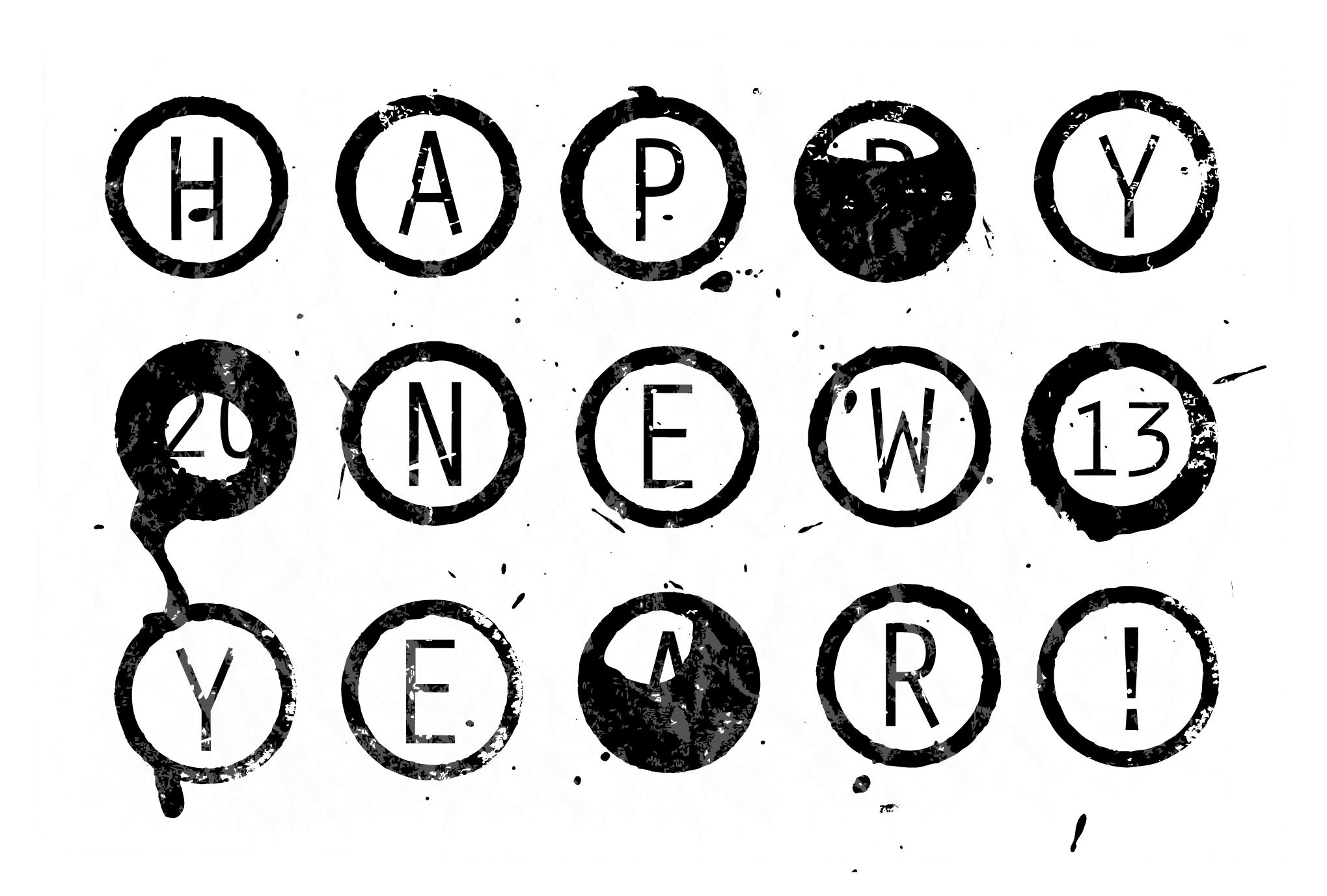 2013年賀状02-2:Circle 2013 / 2のダウンロード画像