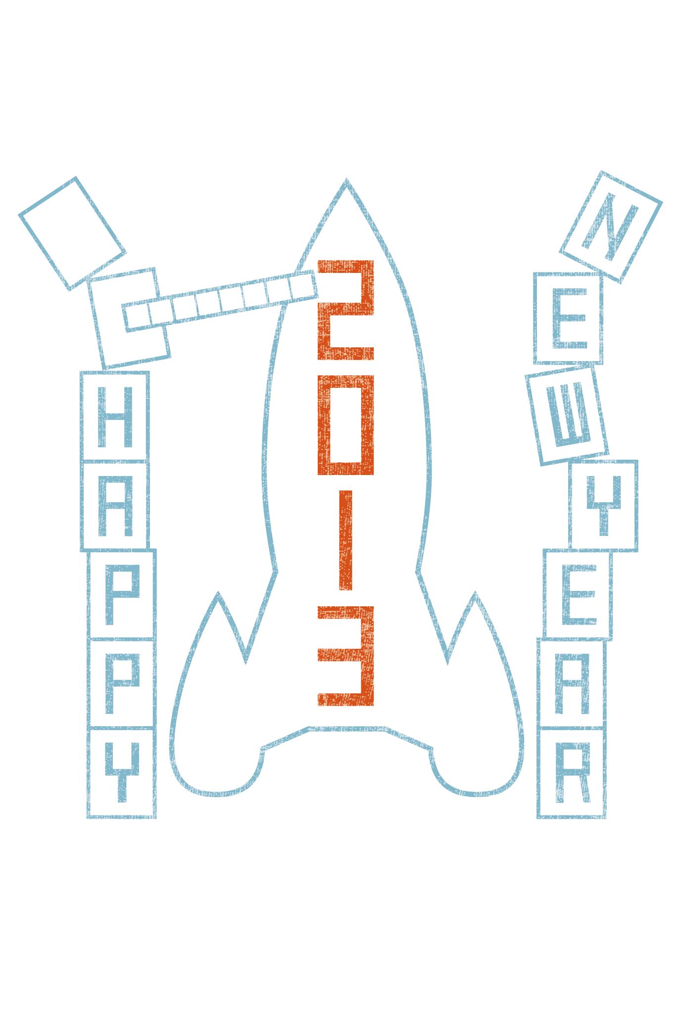 2013年賀状03-1:New year rocket / 1のダウンロード画像