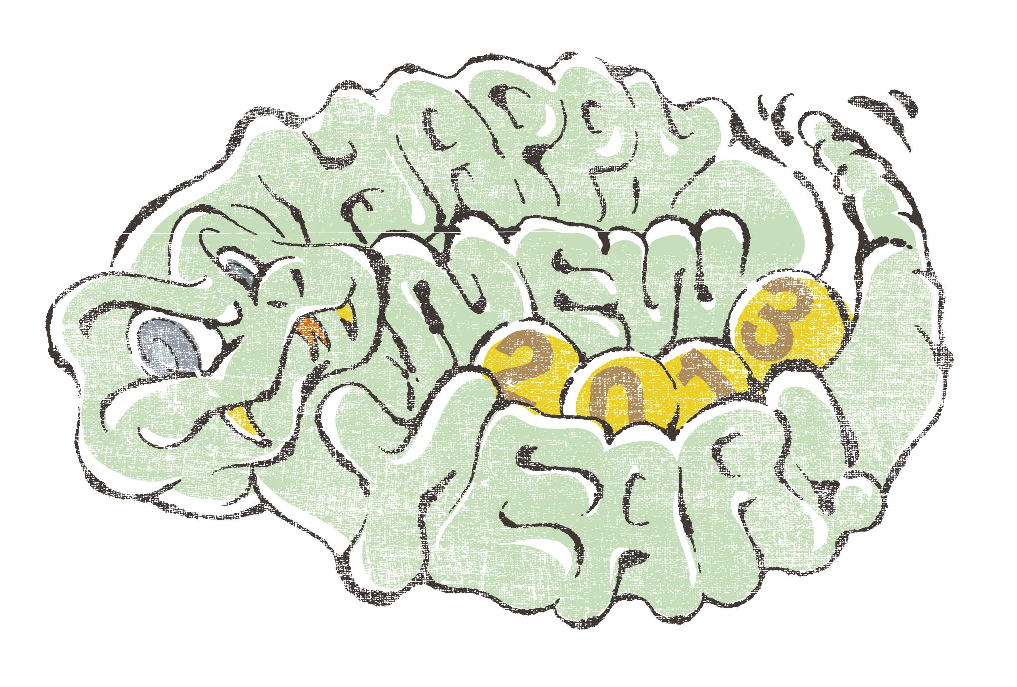 2013年賀状10-1:ガラガラヘビ / redraw 1のダウンロード画像