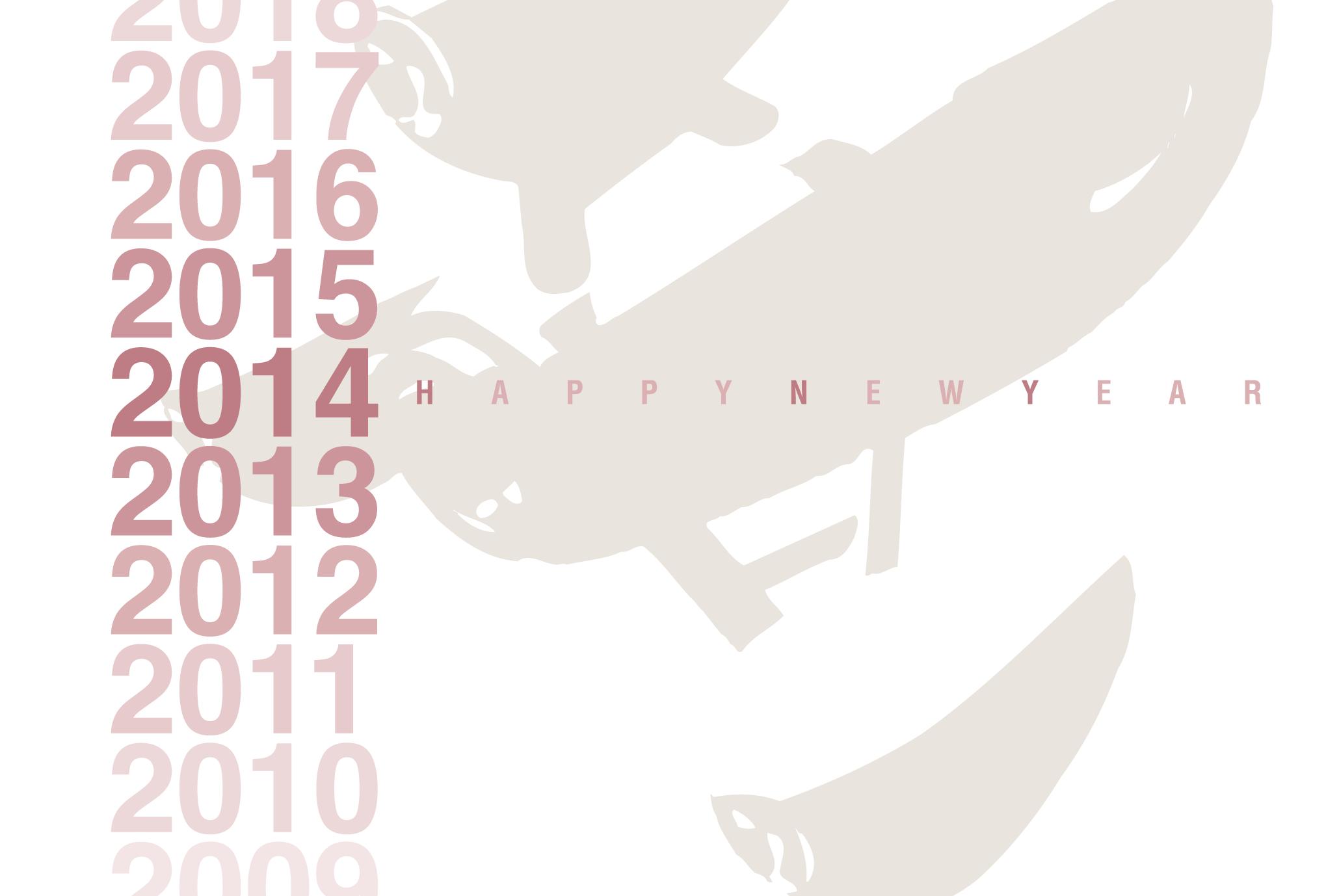 2014年賀状01-1:Gradation 2014 / 1のダウンロード画像