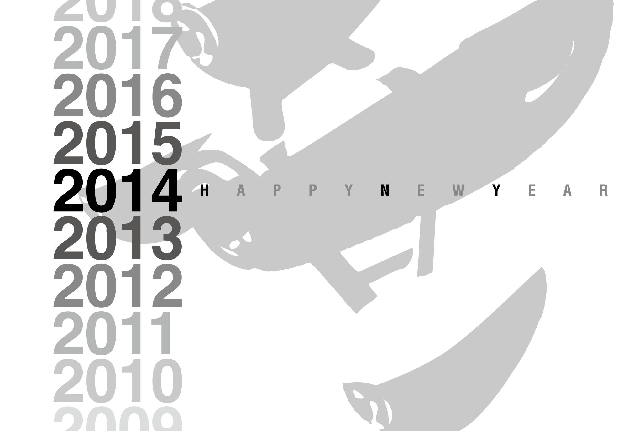 2014年賀状01-2:Gradation 2014 / 2のダウンロード画像