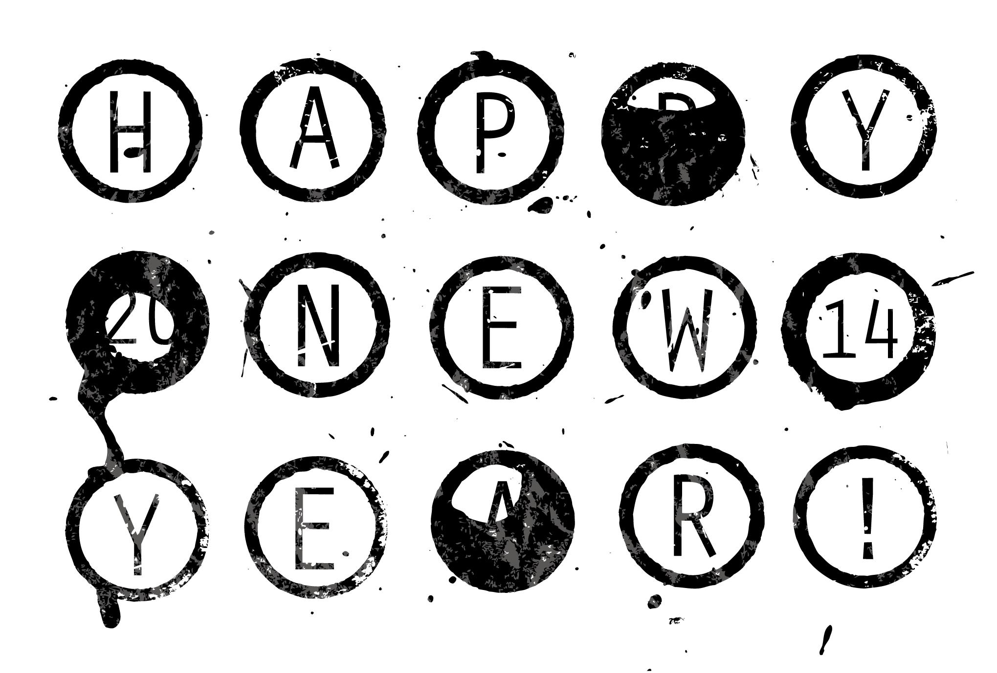 2014年賀状03-1:Circle 2014 / 1のダウンロード画像