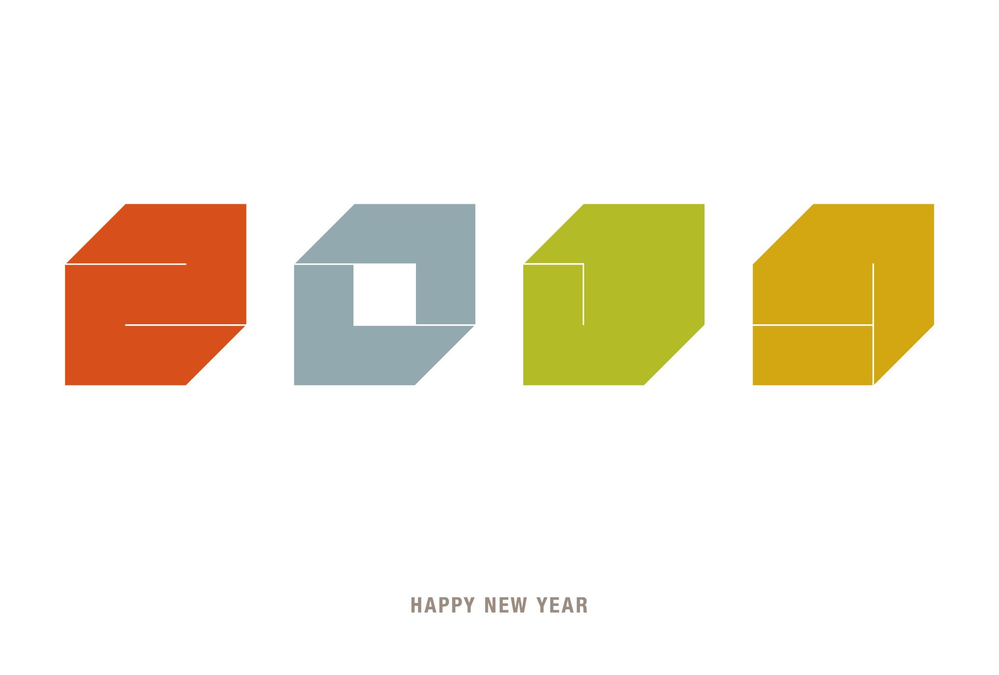 2014年賀状06-1:Square 2014 / 1のダウンロード画像