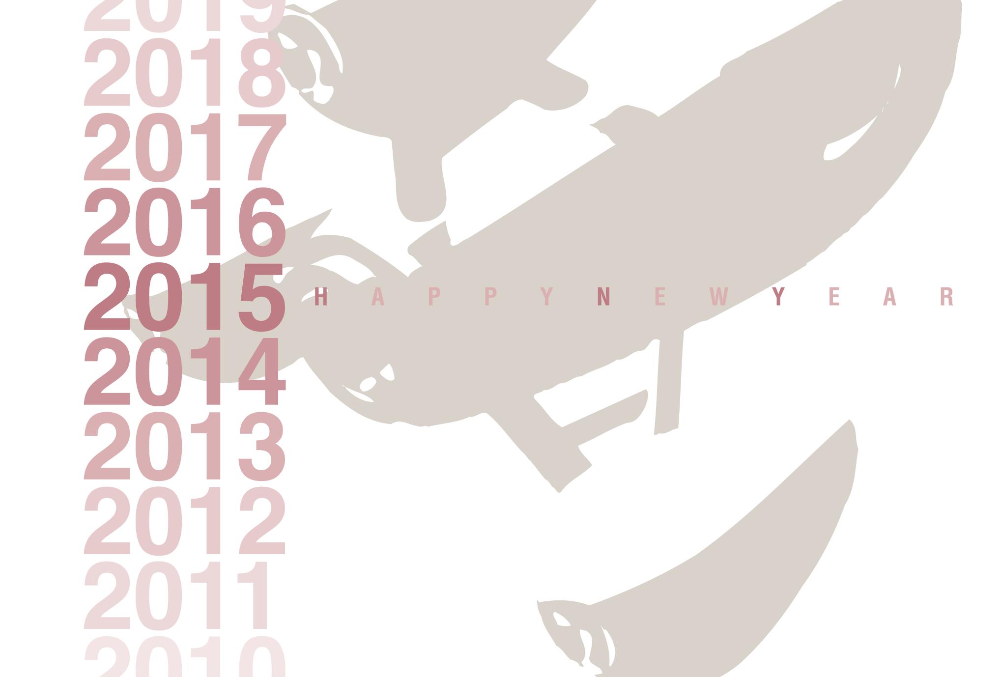 2015年賀状01-1:Gradation 2015 / 1のダウンロード画像