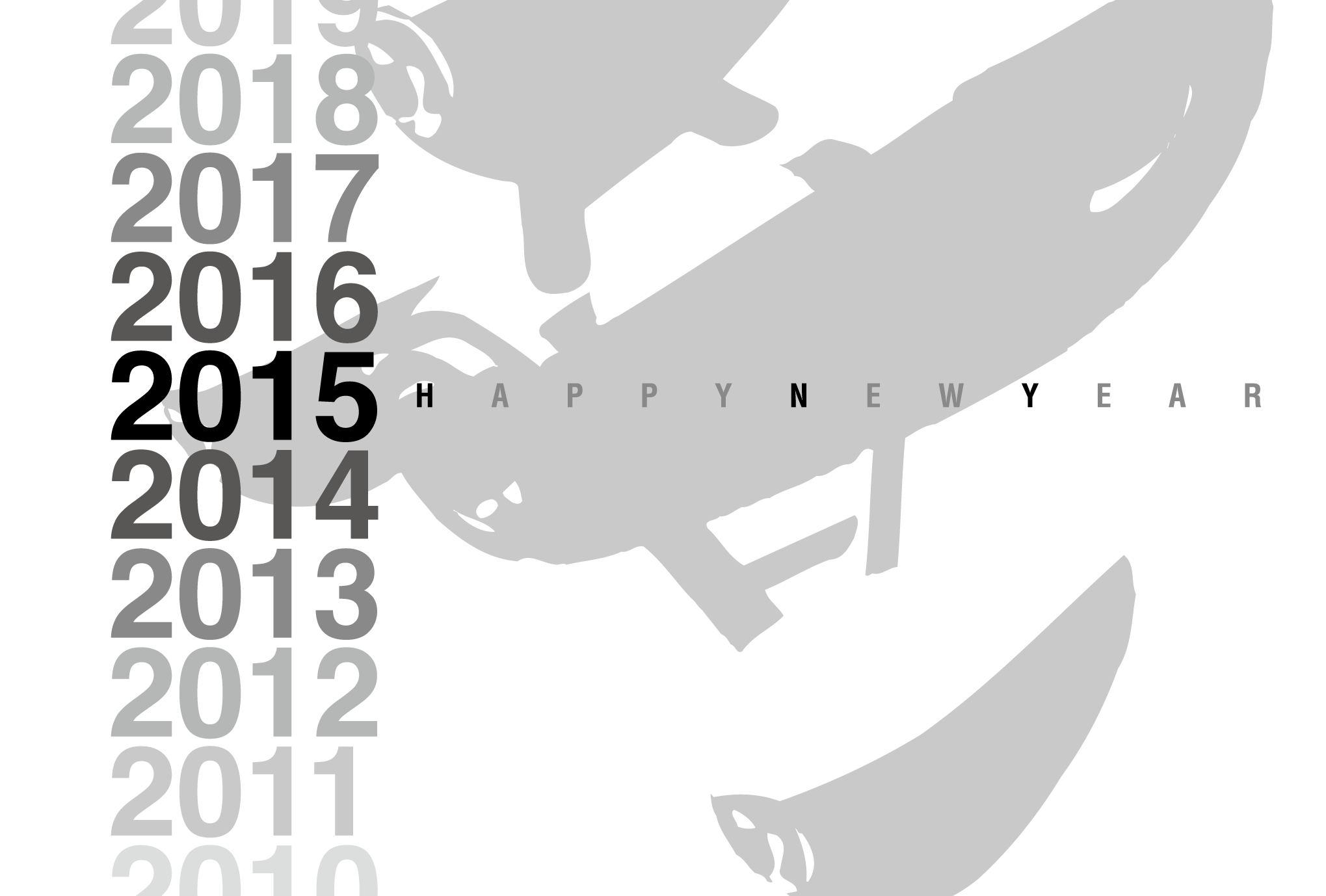 2015年賀状01-2:Gradation 2015 / 2のダウンロード画像