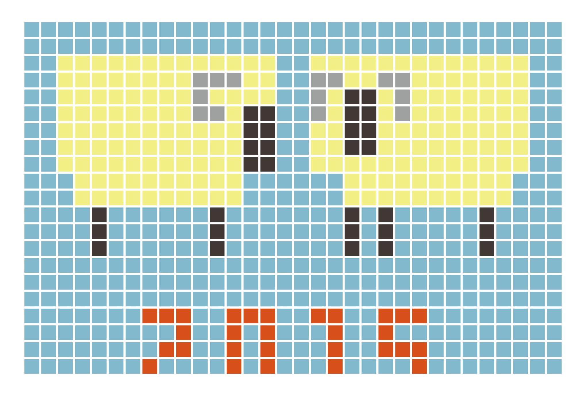 2015年賀状06-2:Sheep grid 2015 / 2のダウンロード画像