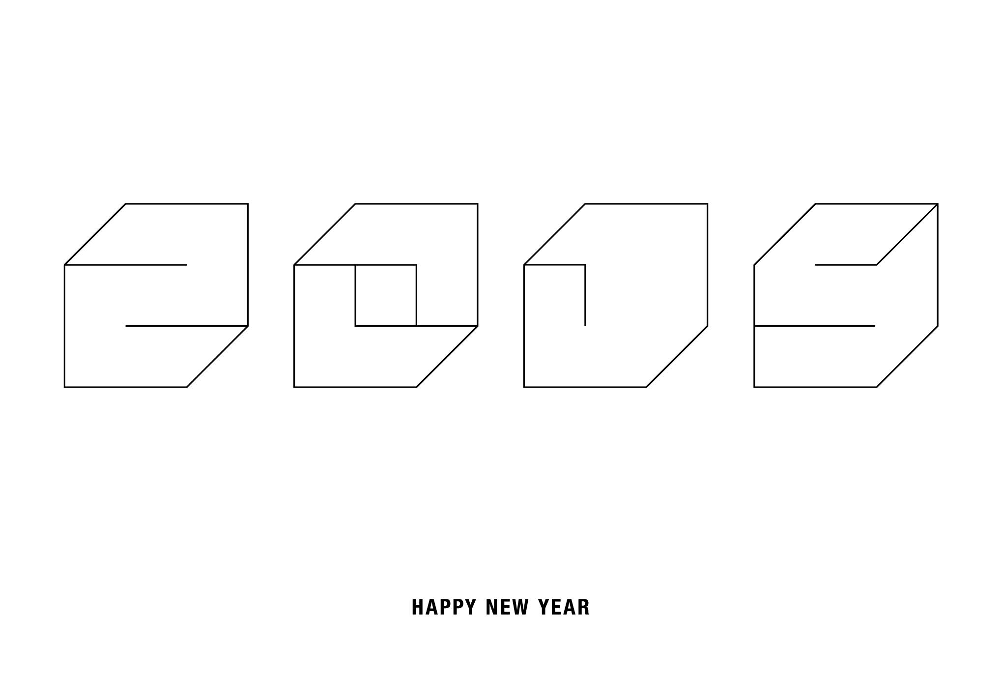 2015年賀状07-1:Square 2015 / 1のダウンロード画像