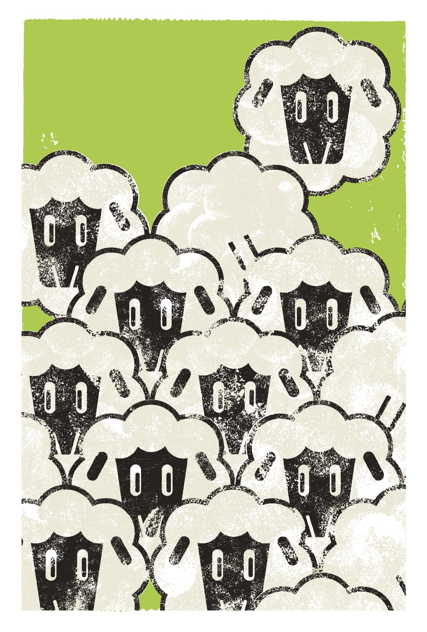 2015年賀状14-1:Sheep! Sheep! Sheep!のダウンロード画像