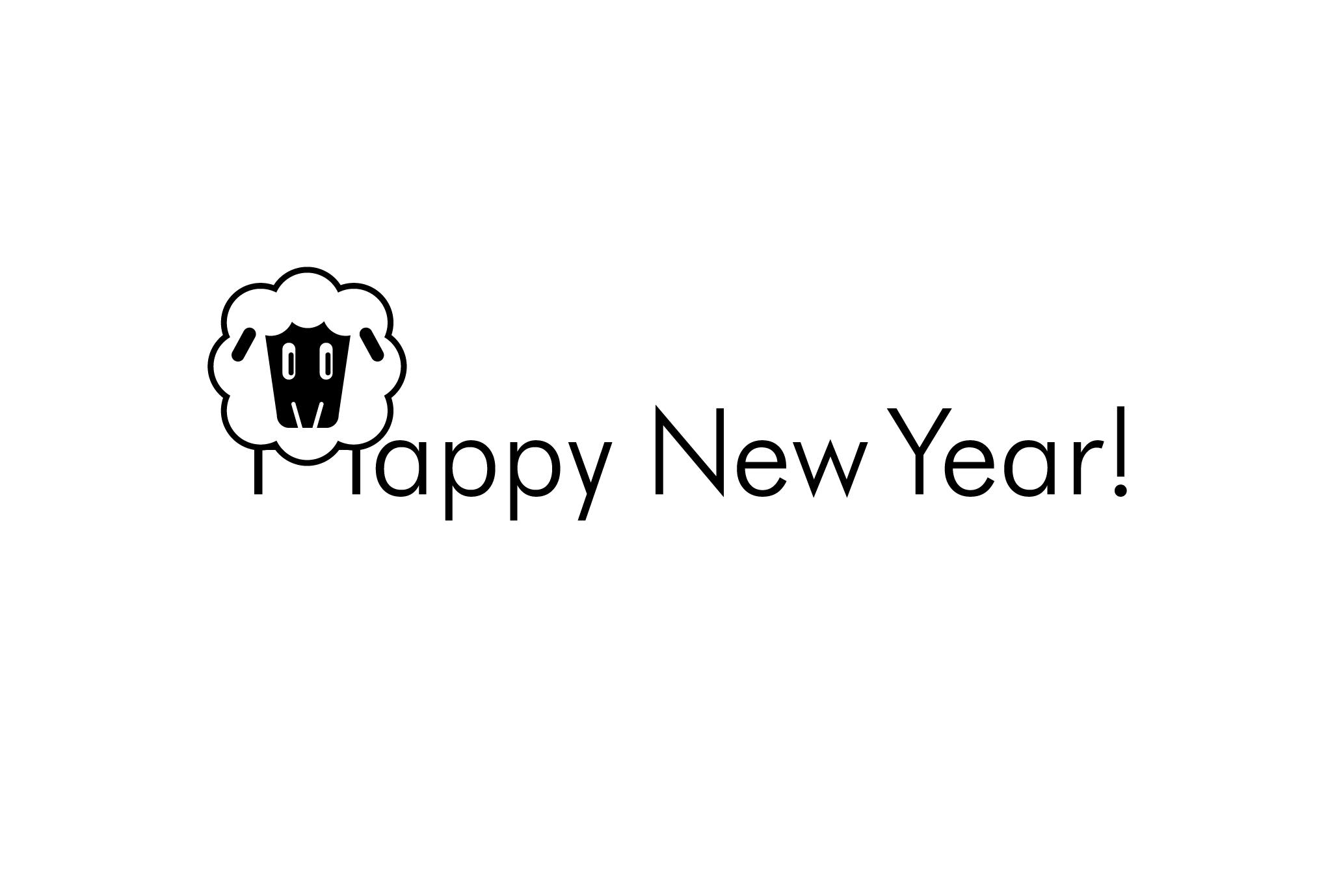 2015年賀状15-1:HAPPY SHEEP / FACEのダウンロード画像
