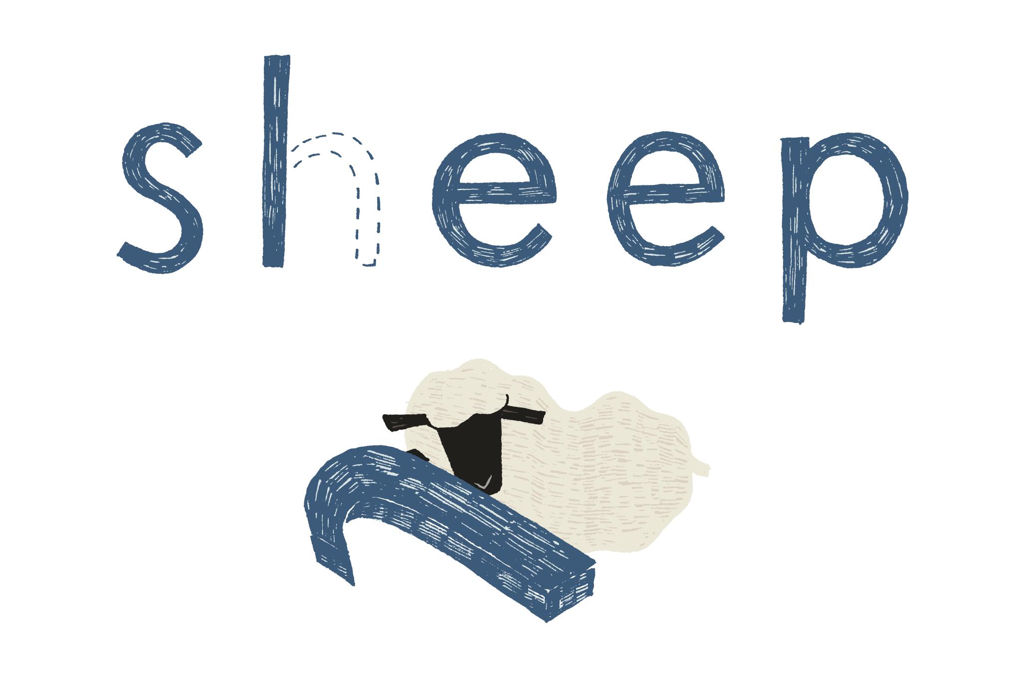 2015年賀状16-1:Sheep, Sleep / 横 1のダウンロード画像