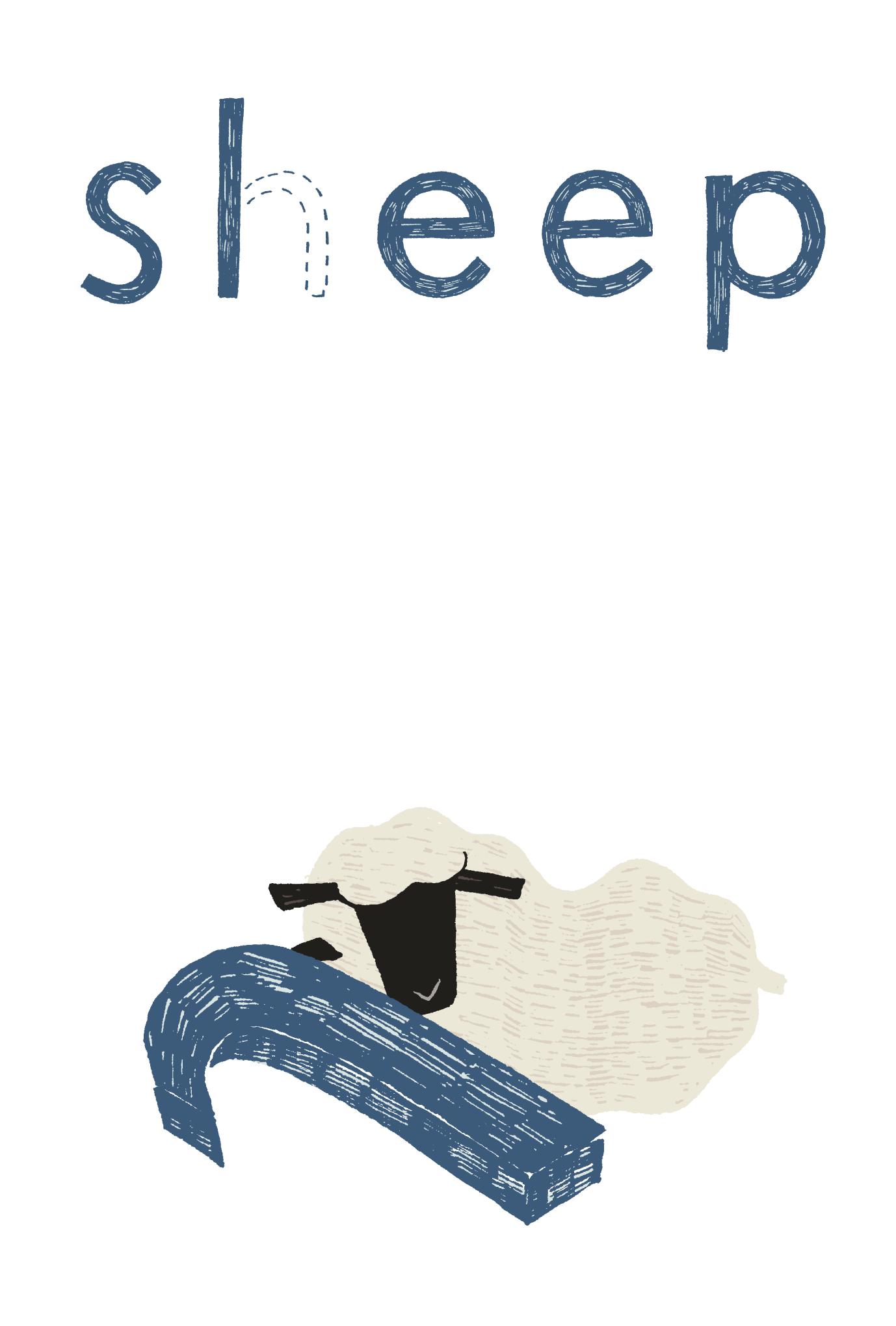 2015年賀状17-1:Sheep, Sleep / 縦 1のダウンロード画像