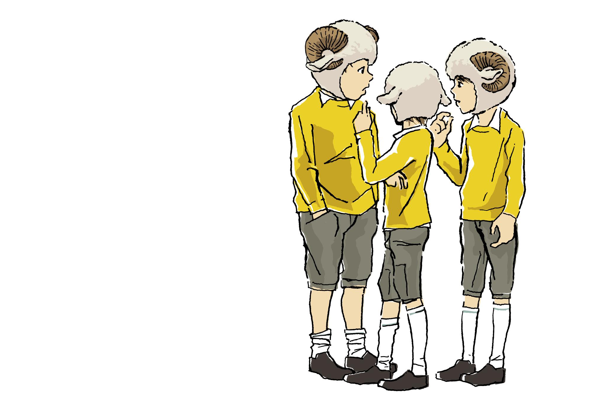 2015年賀状19-1:Sheep Boysのダウンロード画像