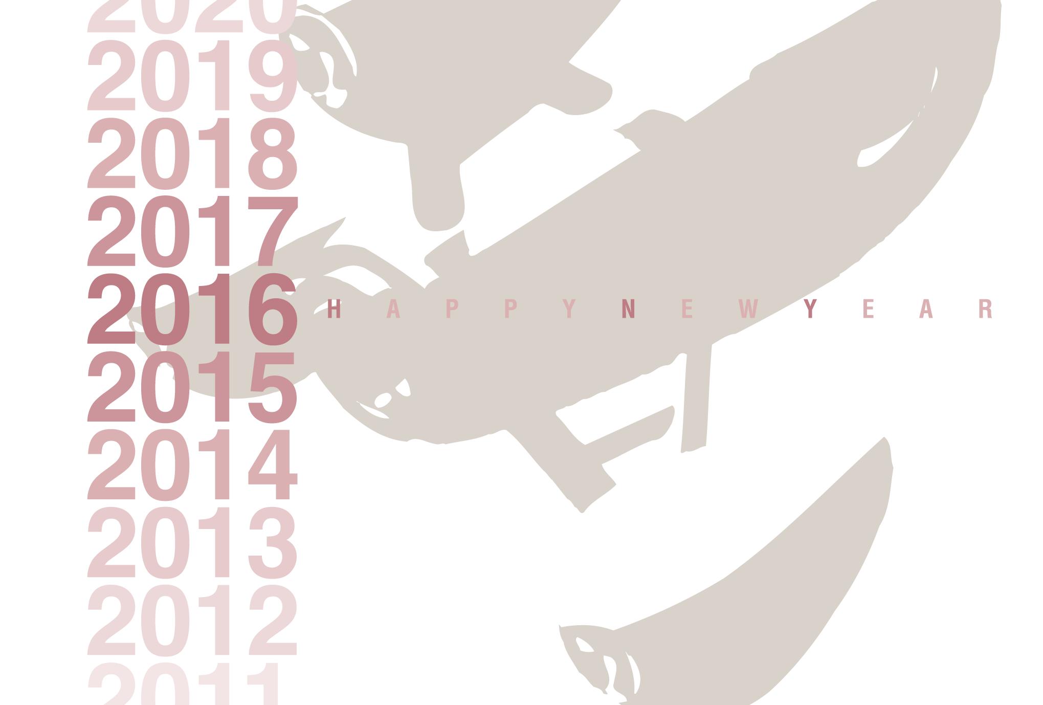 2016年賀状01-1:Gradation 2016 / 1のダウンロード画像