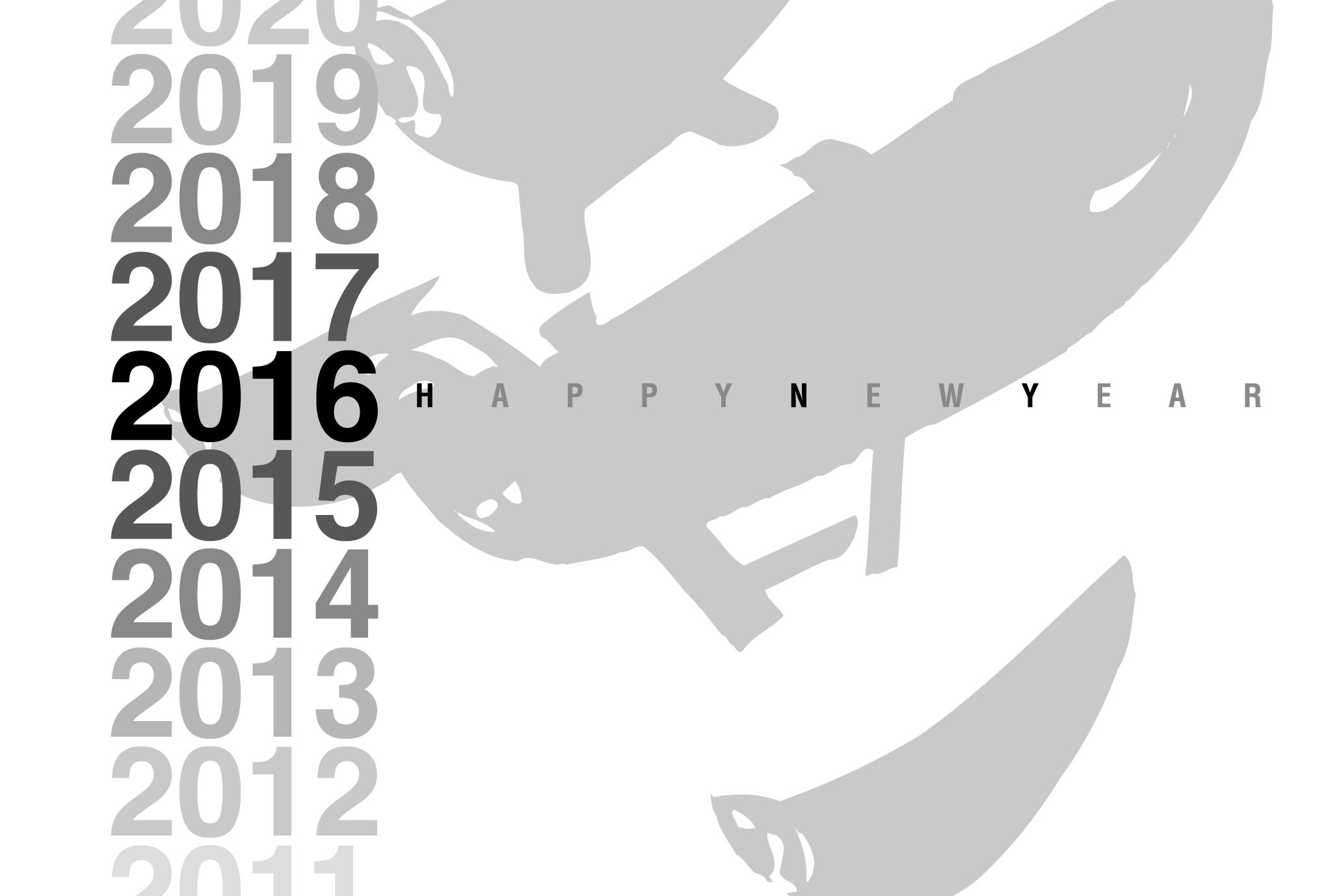 2016年賀状01-2:Gradation 2016 / 2のダウンロード画像