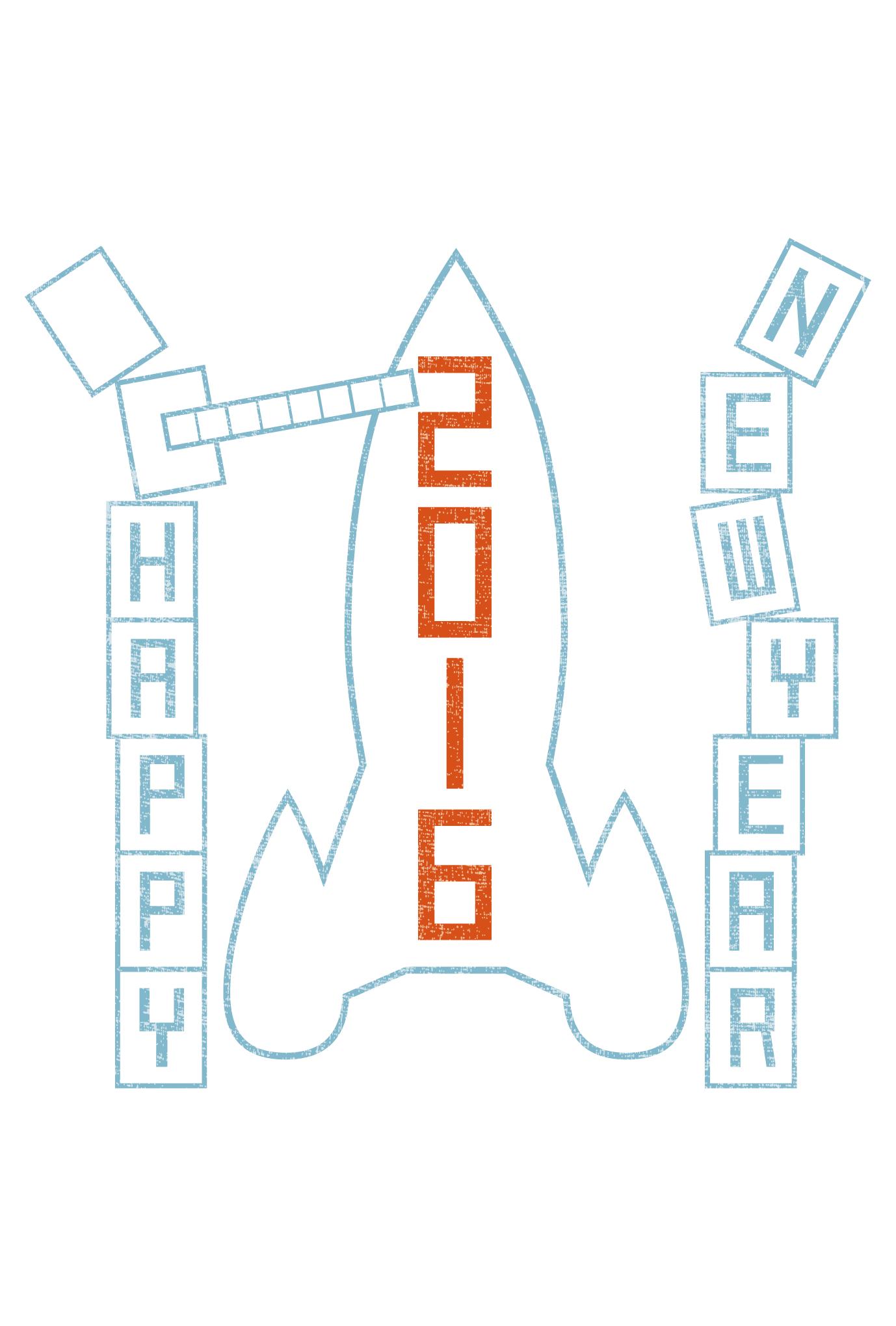 2016年賀状02-1:New year rocket / 1のダウンロード画像