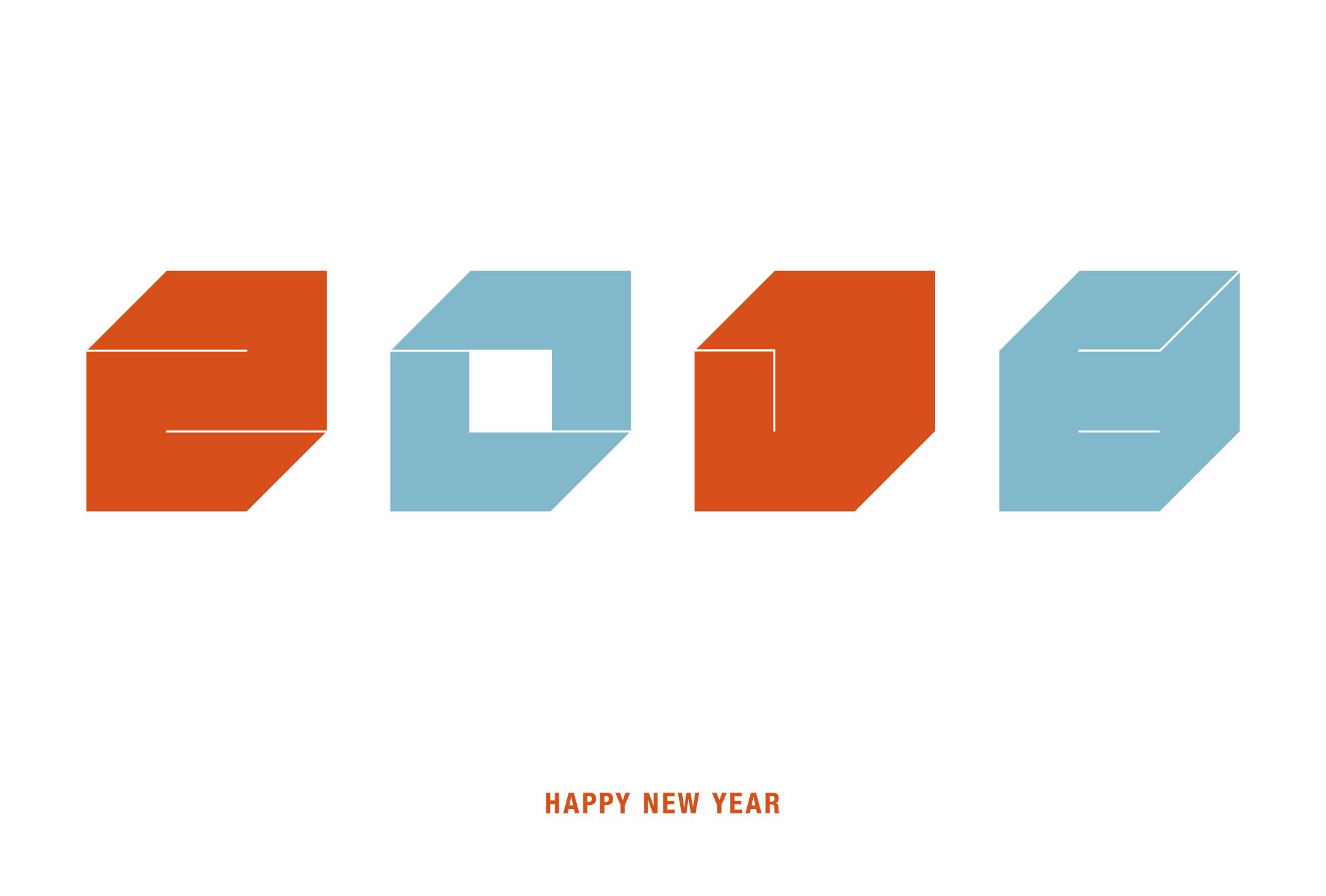 2016年賀状05-1:Square 2016 / 1のダウンロード画像