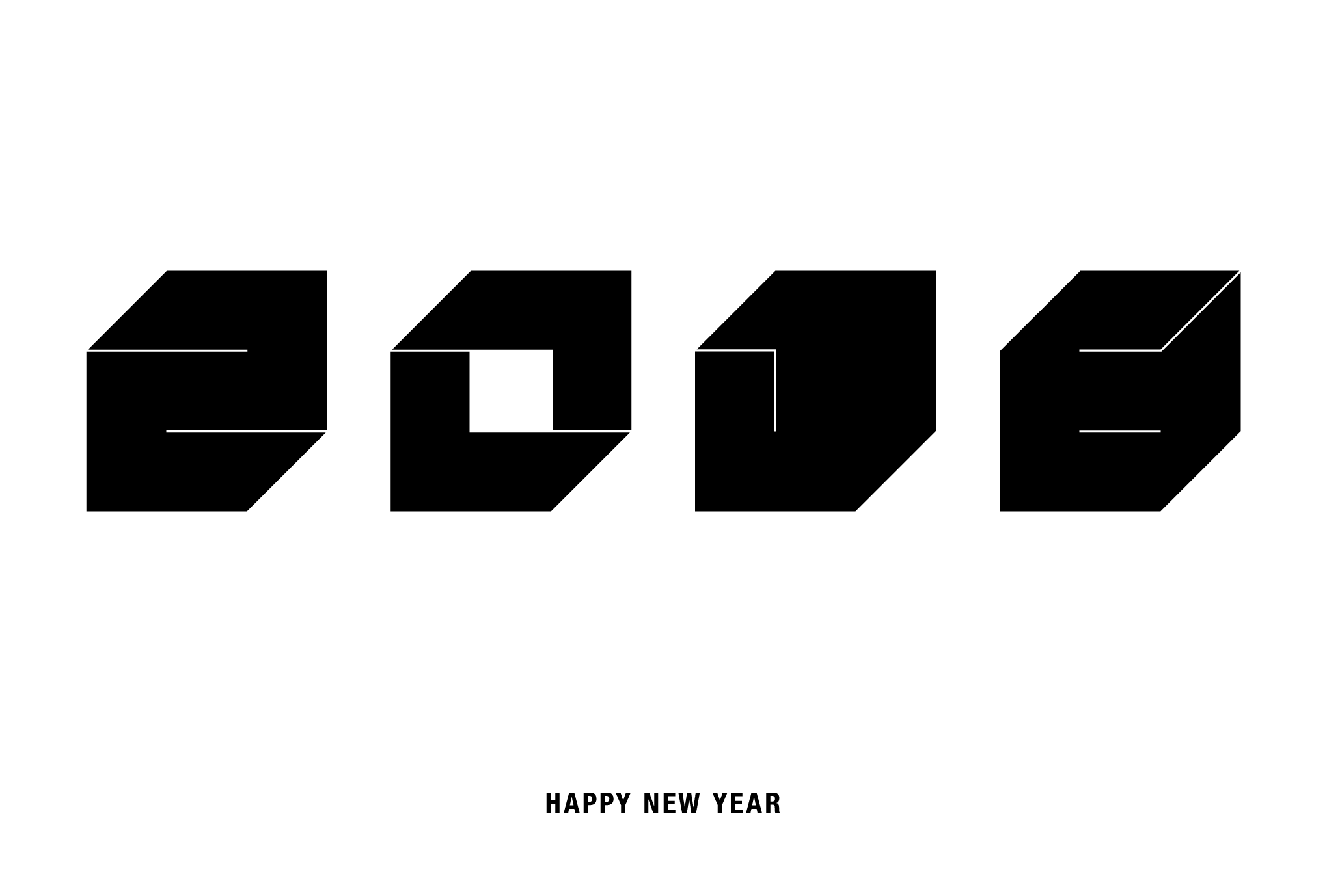 2016年賀状05-2:Square 2016 / 2のダウンロード画像