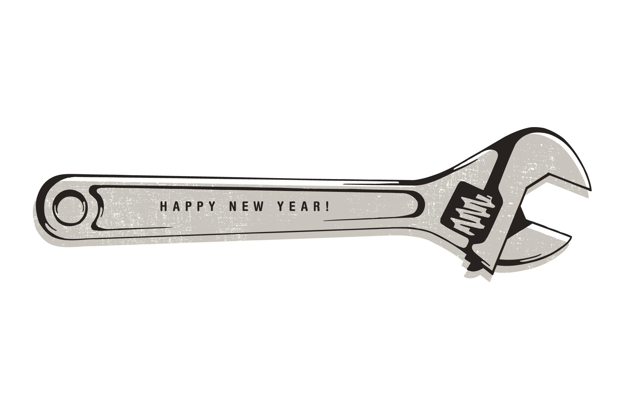2016年賀状17-3:Monkey wrench / 3のダウンロード画像