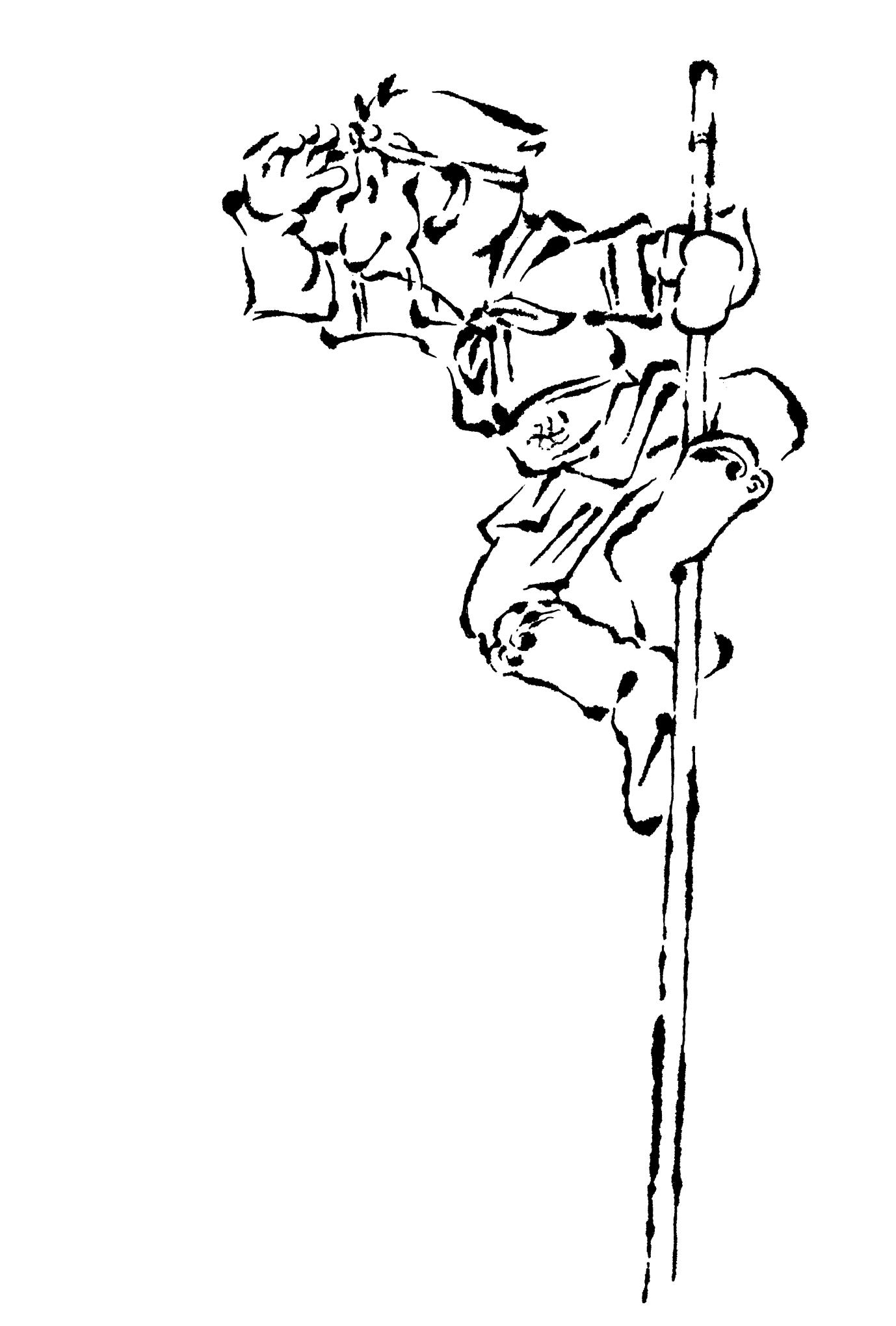 2016年賀状18-3:孫悟空 / line drawingのダウンロード画像
