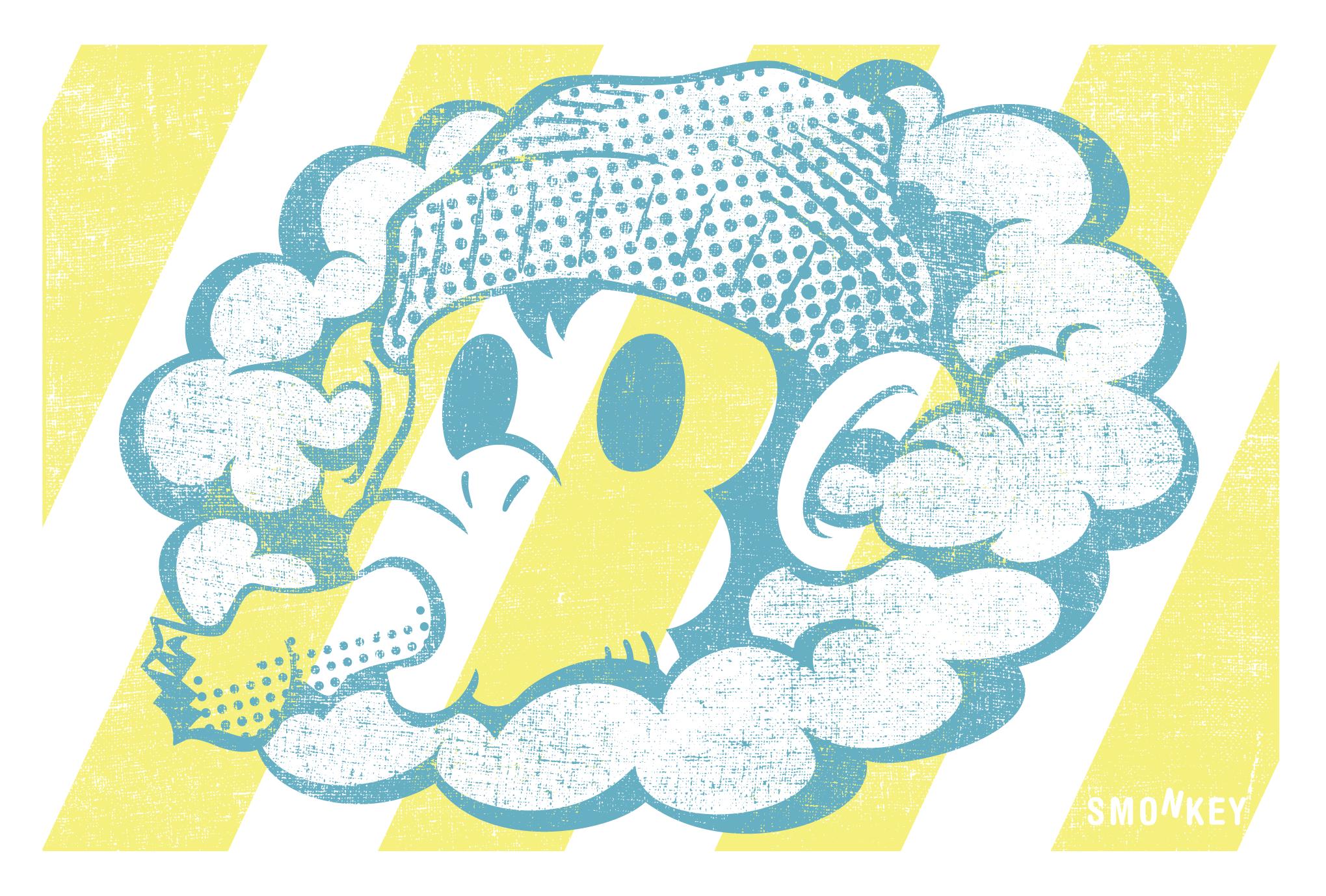 2016年賀状22-3:SMONKEY / stripeのダウンロード画像