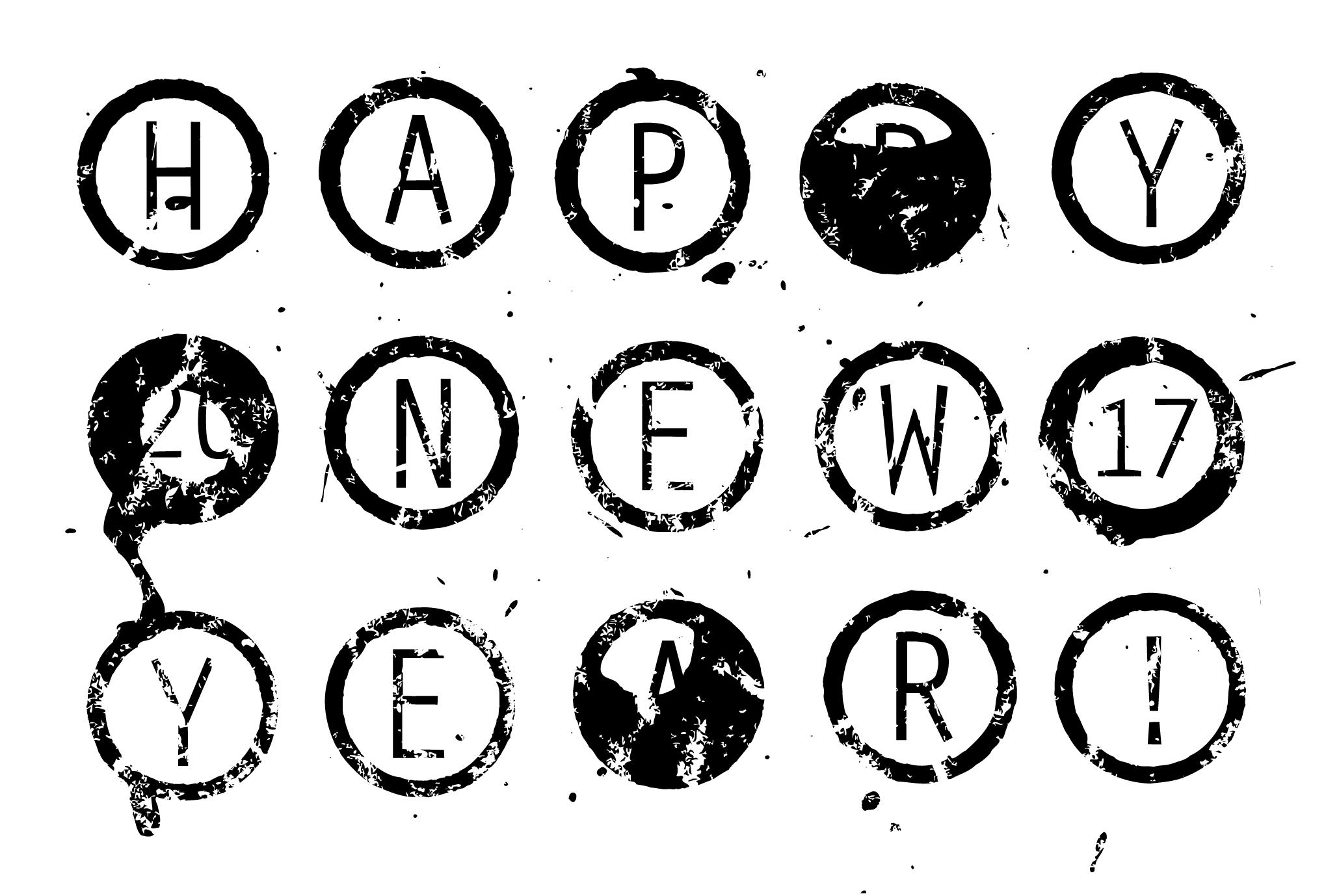 2017年賀状02:Circle 2017のダウンロード画像