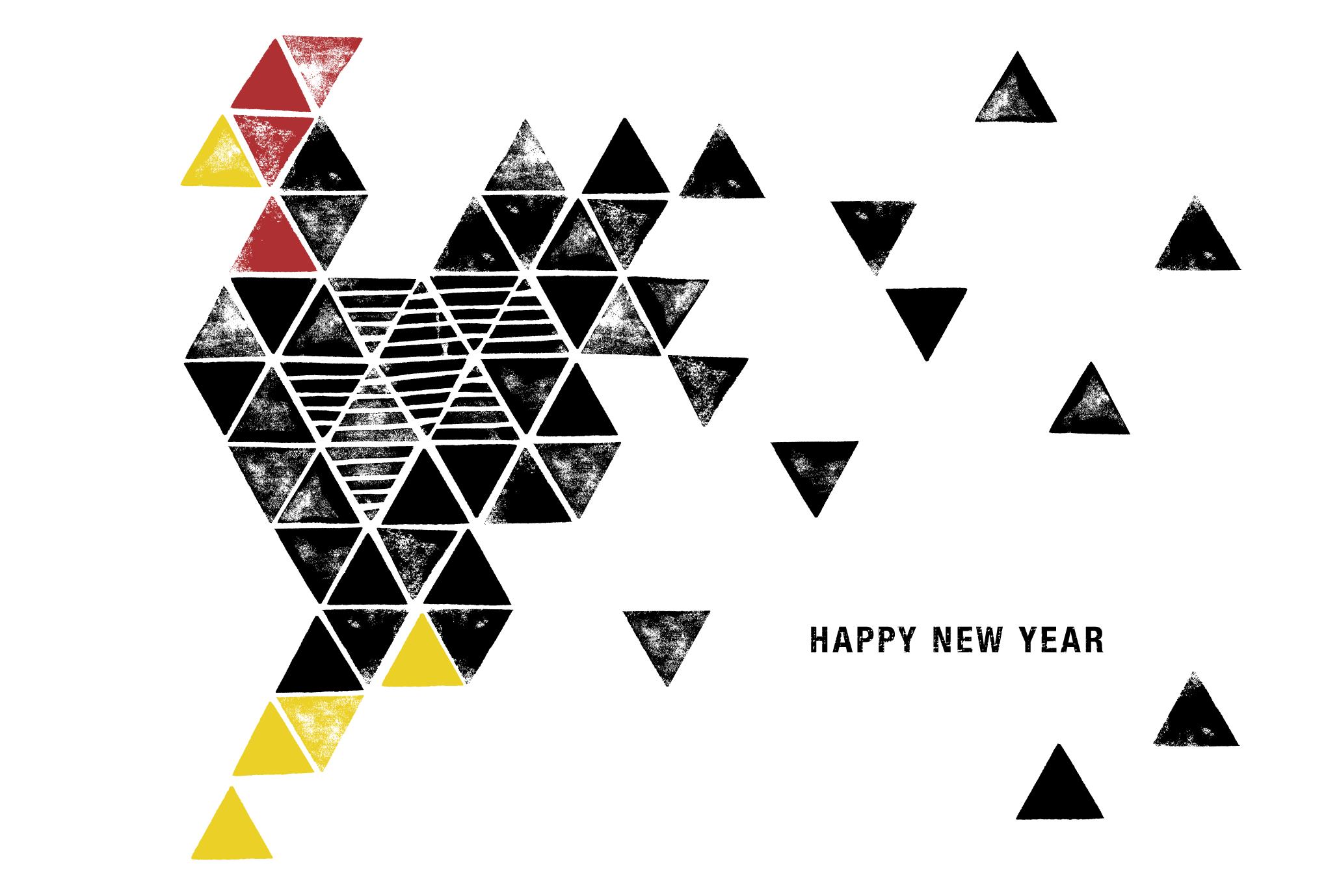 2017年賀状14-2:Toriangle – Triangle chicken / 2のダウンロード画像