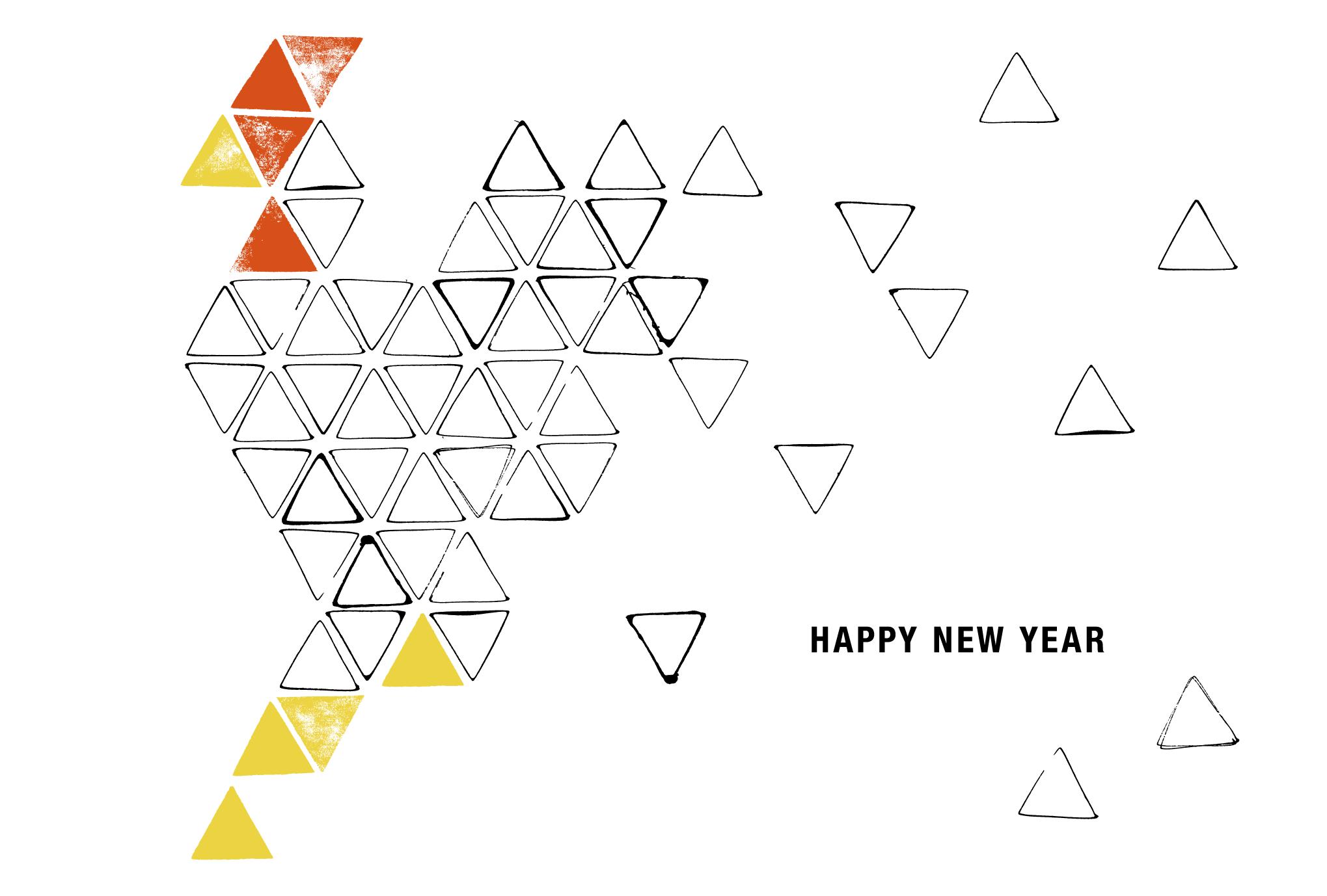 2017年賀状14-3:Toriangle – Triangle chicken / 3のダウンロード画像