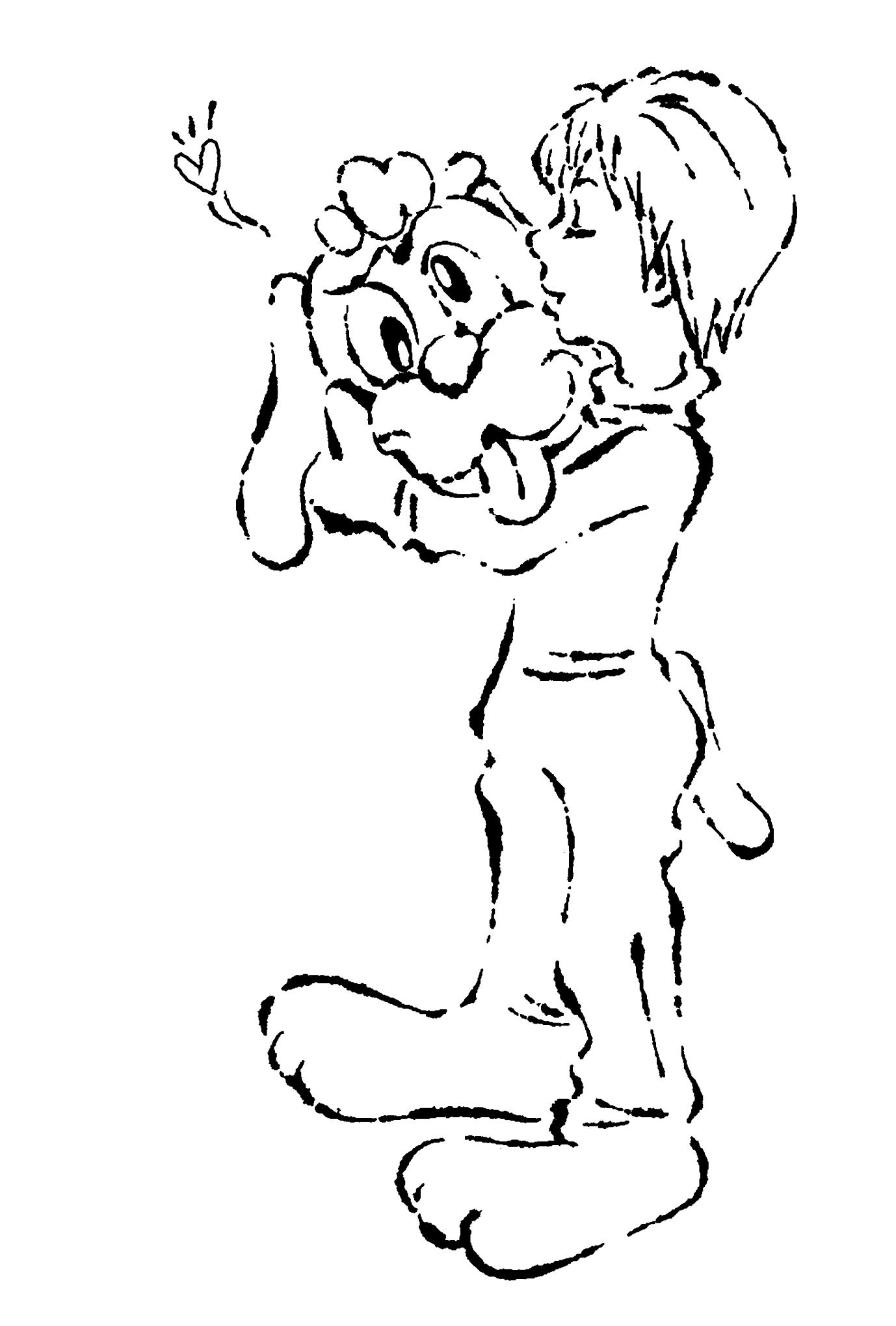 2018年賀状07-3:I love it / line drawingのダウンロード画像