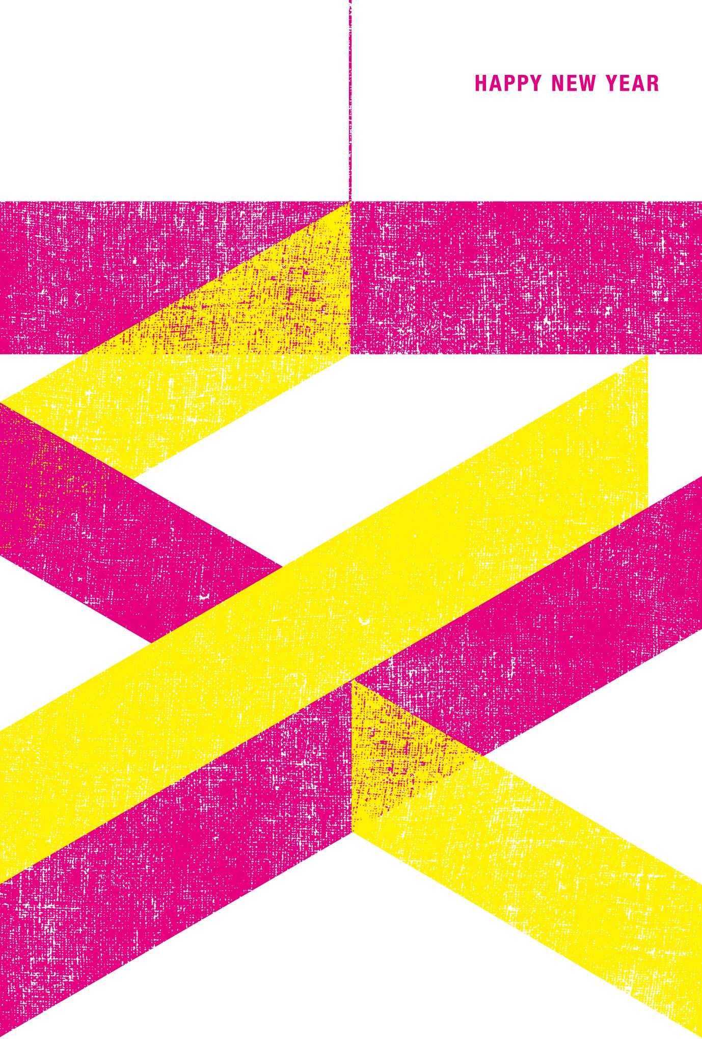 2019年賀状14-2:亥 M100 Y100のダウンロード画像