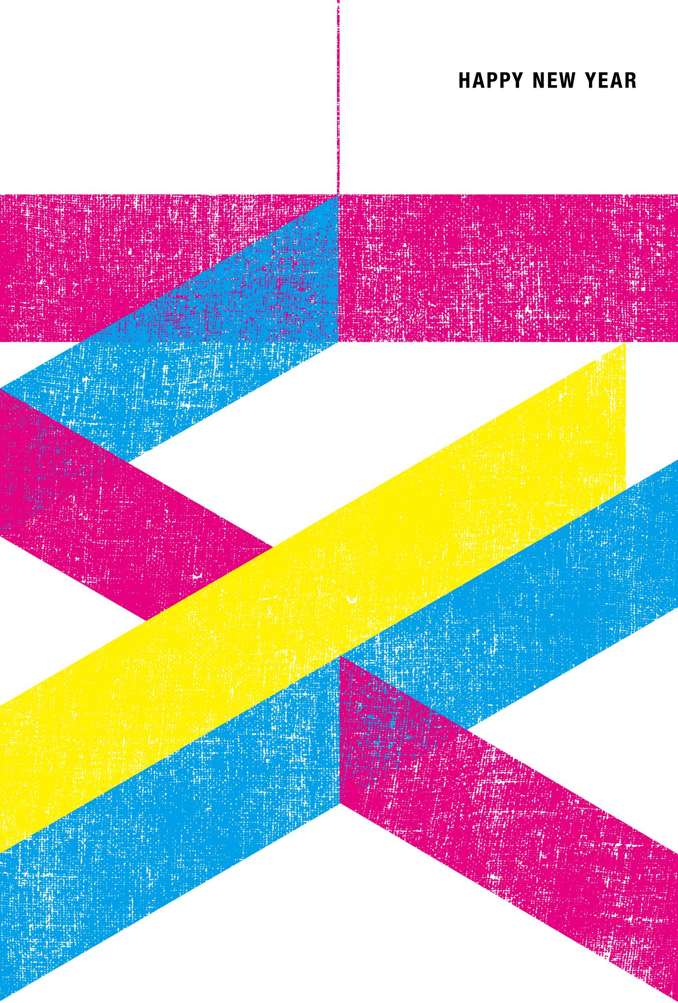 2019年賀状14-4:亥 CMYKのダウンロード画像